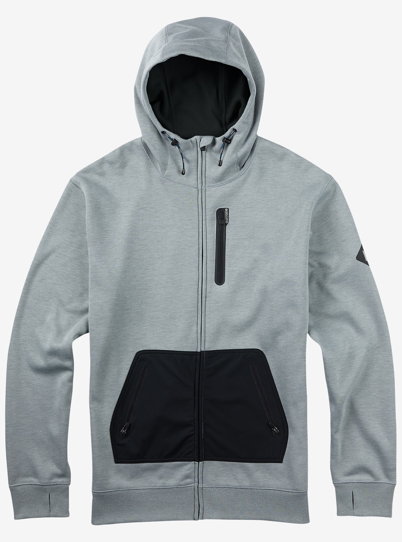 Burton Hemlock Bonded Full-Zip Hoodie shown in Monument Heather
