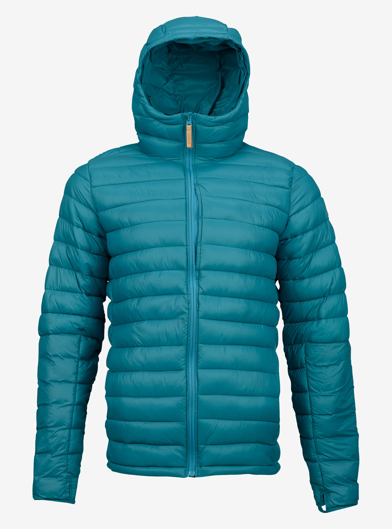 Burton Evergreen Hooded Synthetic Insulator shown in Larkspur