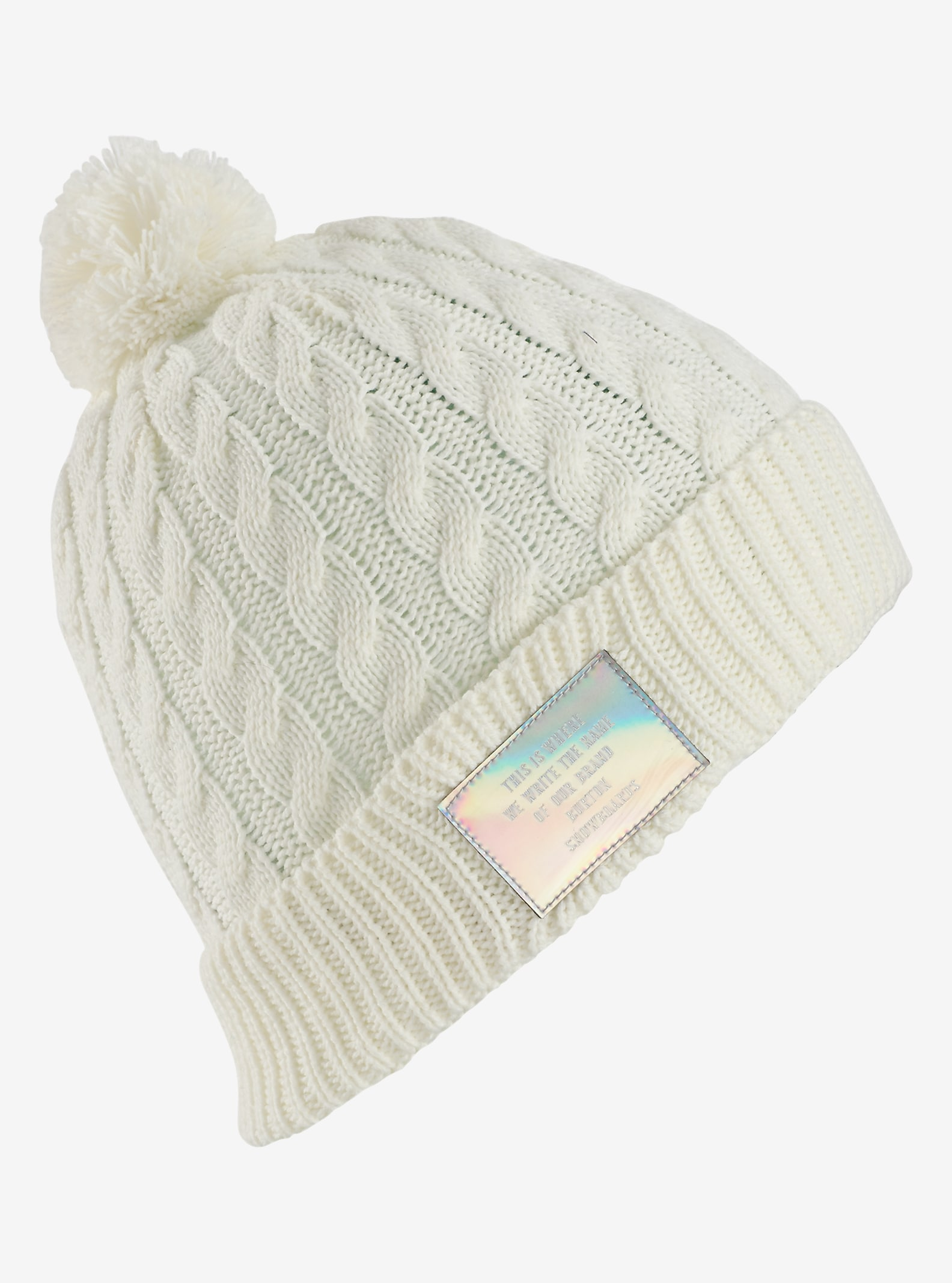 Burton Mini Cable Beanie shown in Stout White
