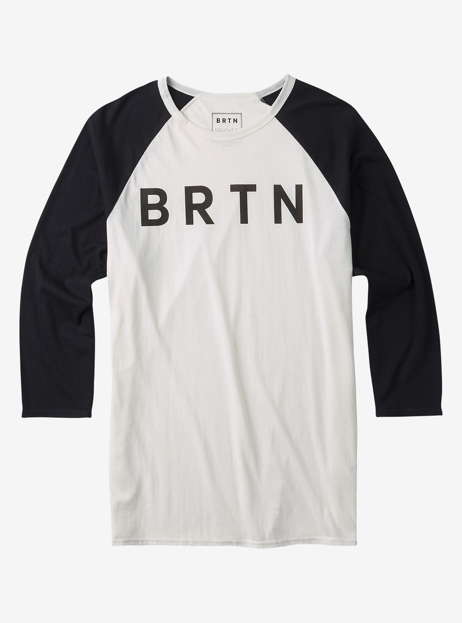 Burton BRTN Raglan Shirt shown in Stout White