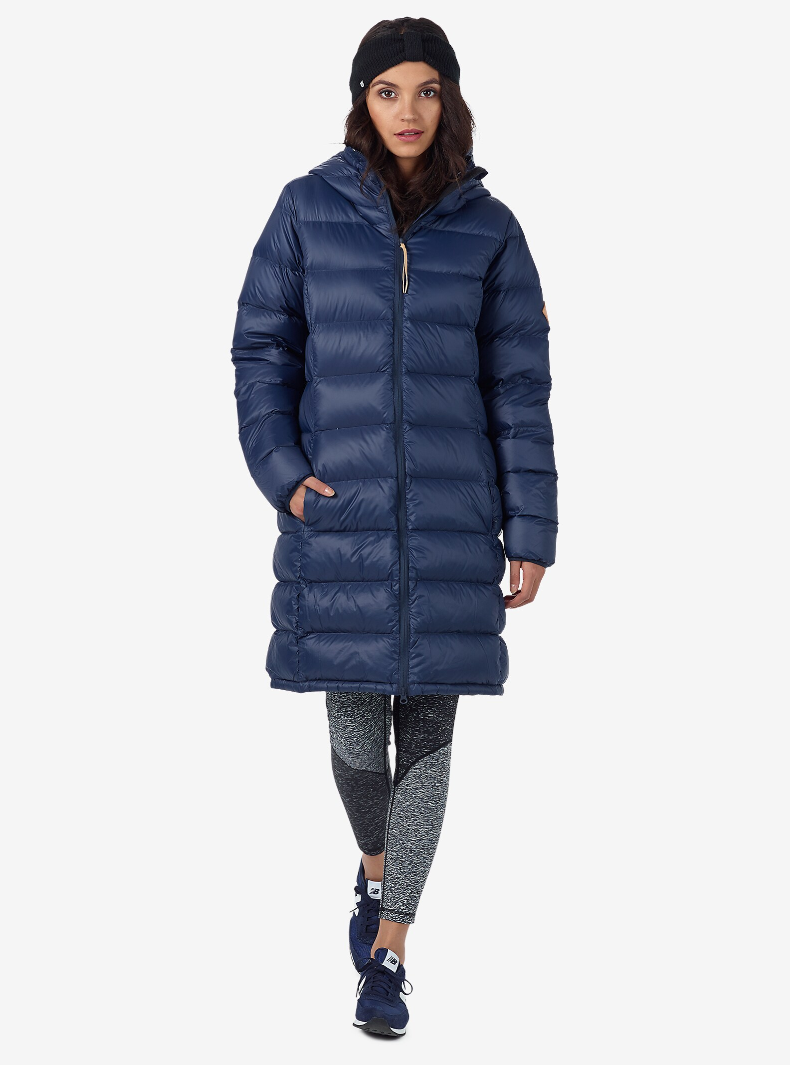 Burton Women's Evergreen Hooded Long Down Insulator shown in Mood Indigo