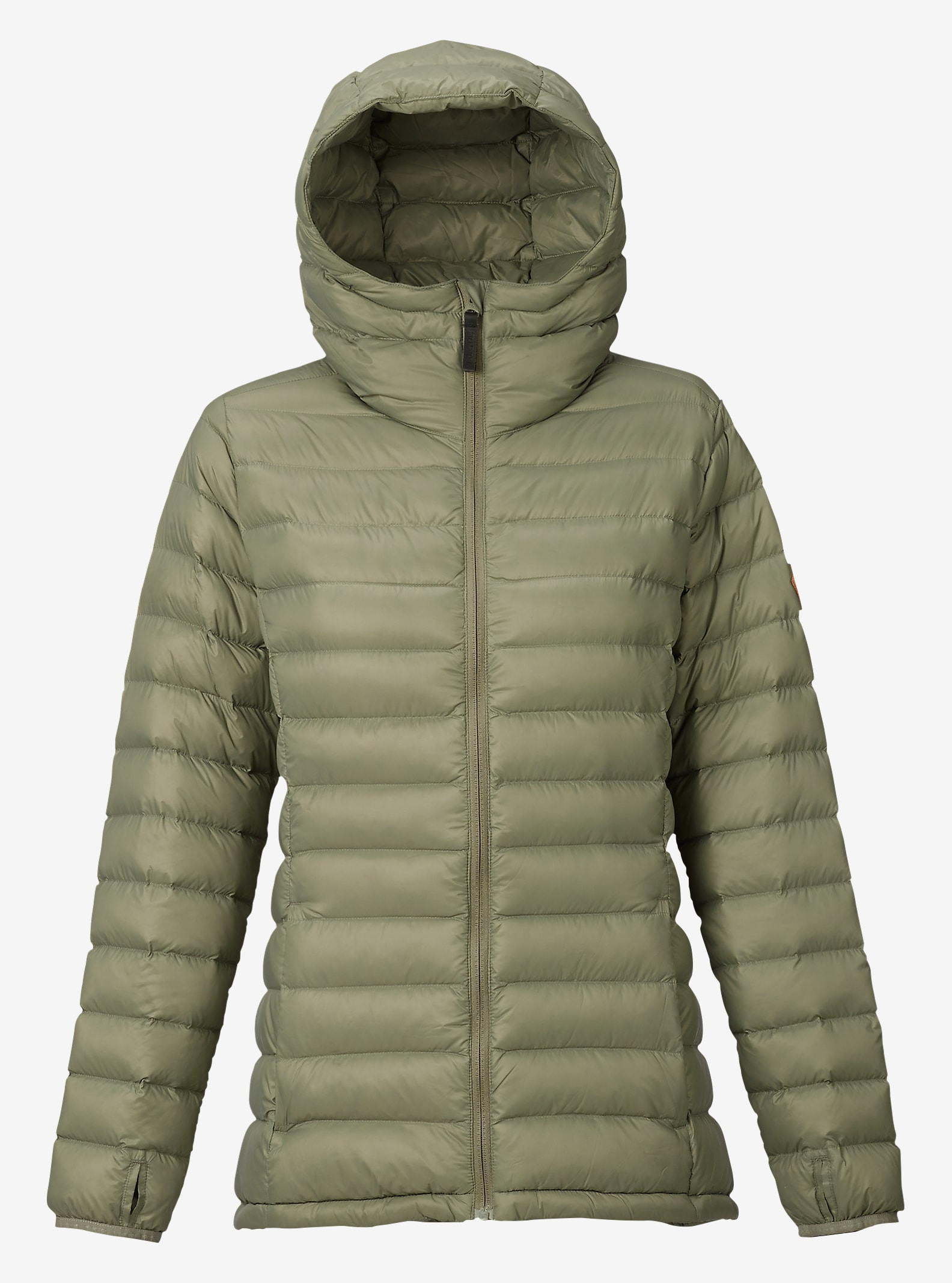 Burton Women's Evergreen Hooded Down Insulator shown in Vetiver