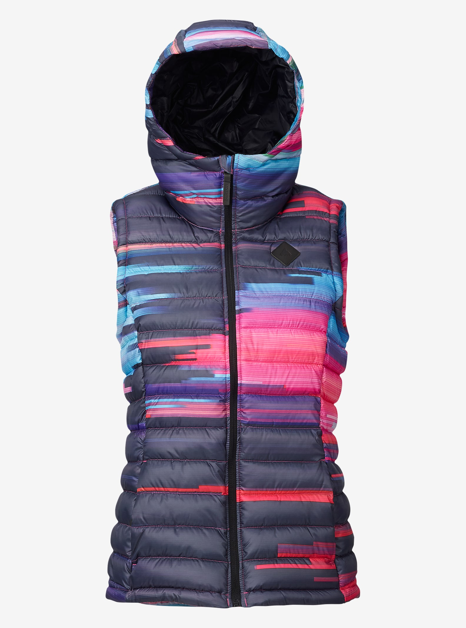 Burton Women's Evergreen Synthetic Vest Insulator shown in Flynn Glitch