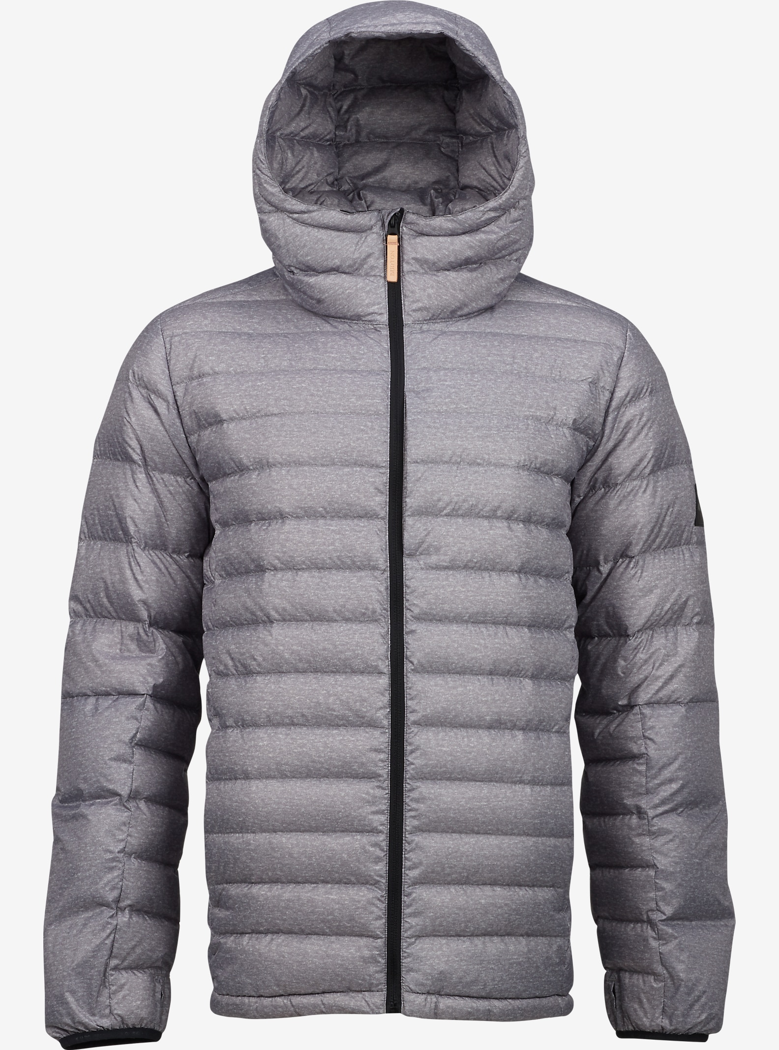 Burton Evergreen Hooded Down Insulator shown in Gray Heather
