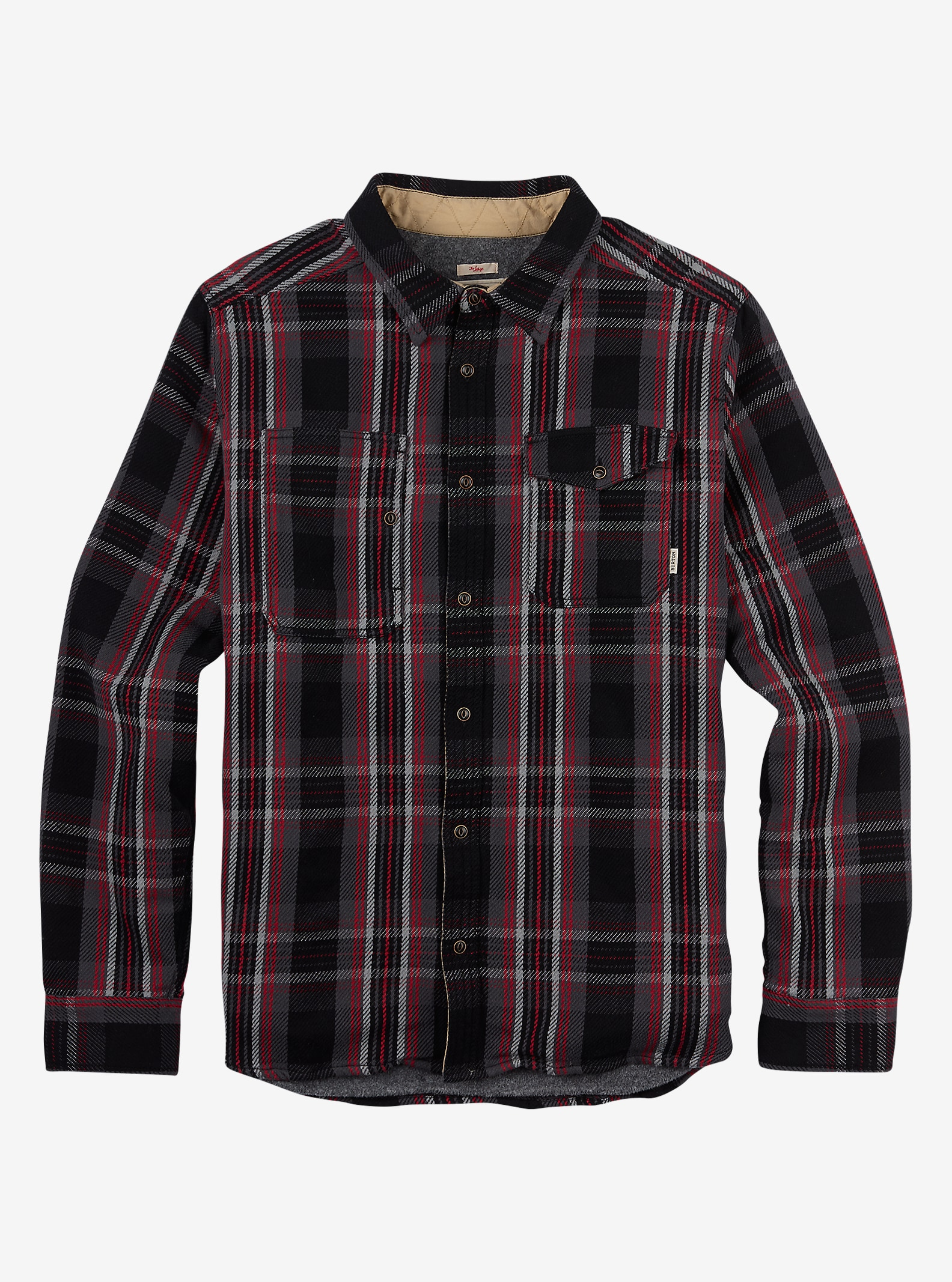 Burton Mill Fleece Lined Woven Shirt shown in True Black North End