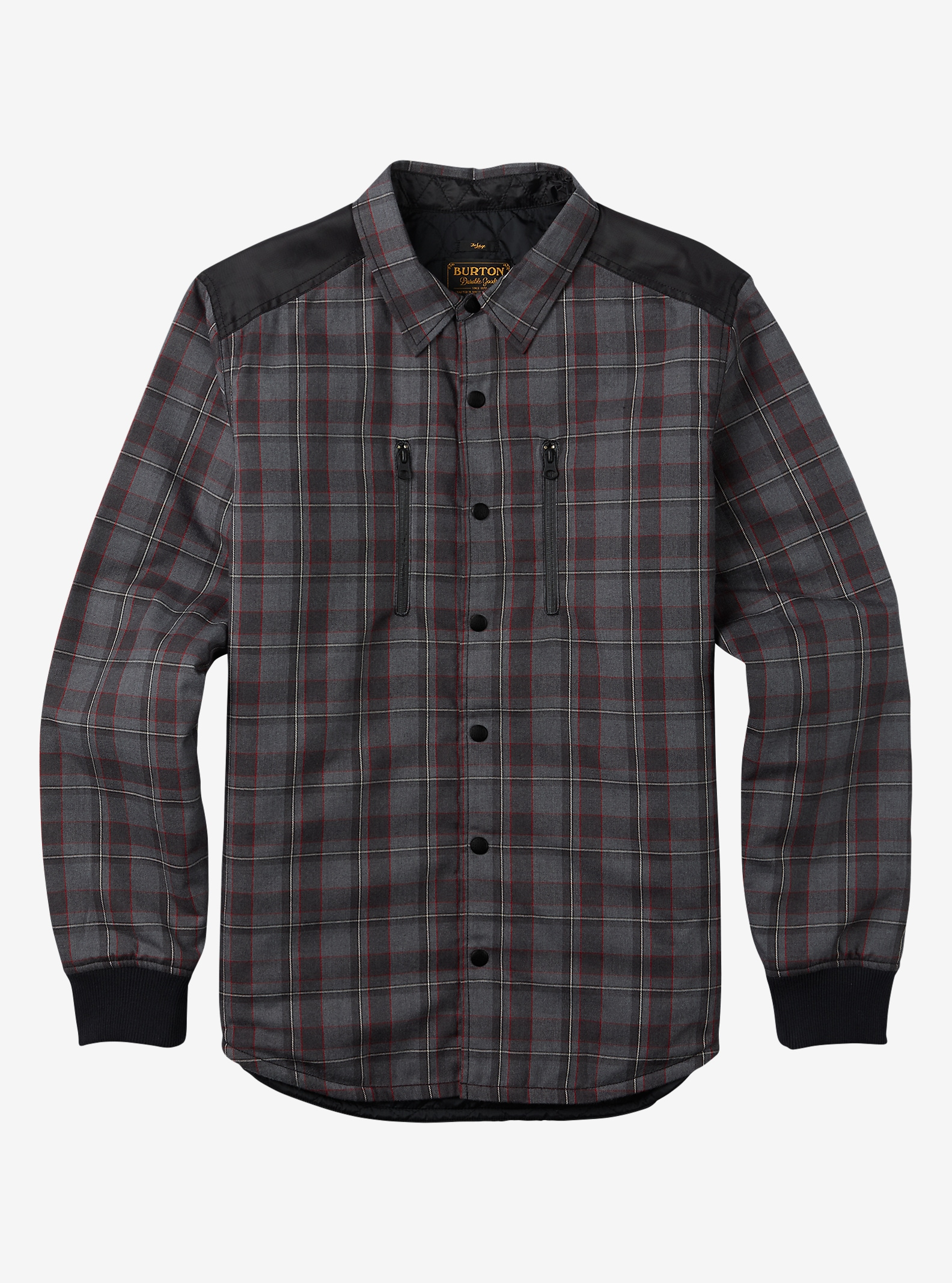 Burton Field Quilted Flannel shown in True Black Dumont Plaid