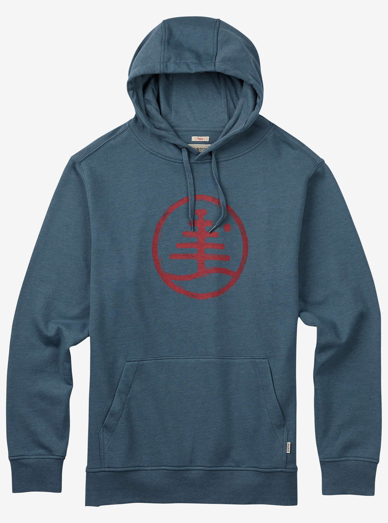 Burton Woodblock Family Tree Recycled Hoodie angezeigt in Blue Mirage Heather
