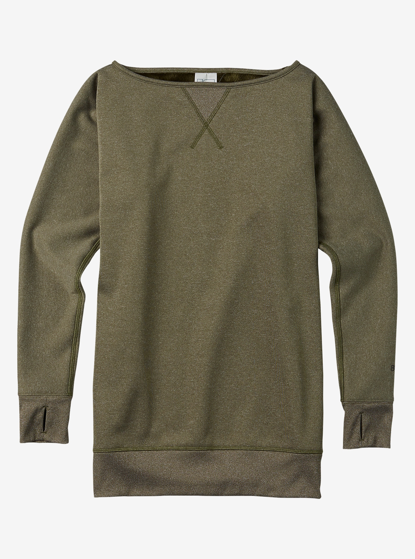 Burton Crimson Fleece shown in Keef Heather