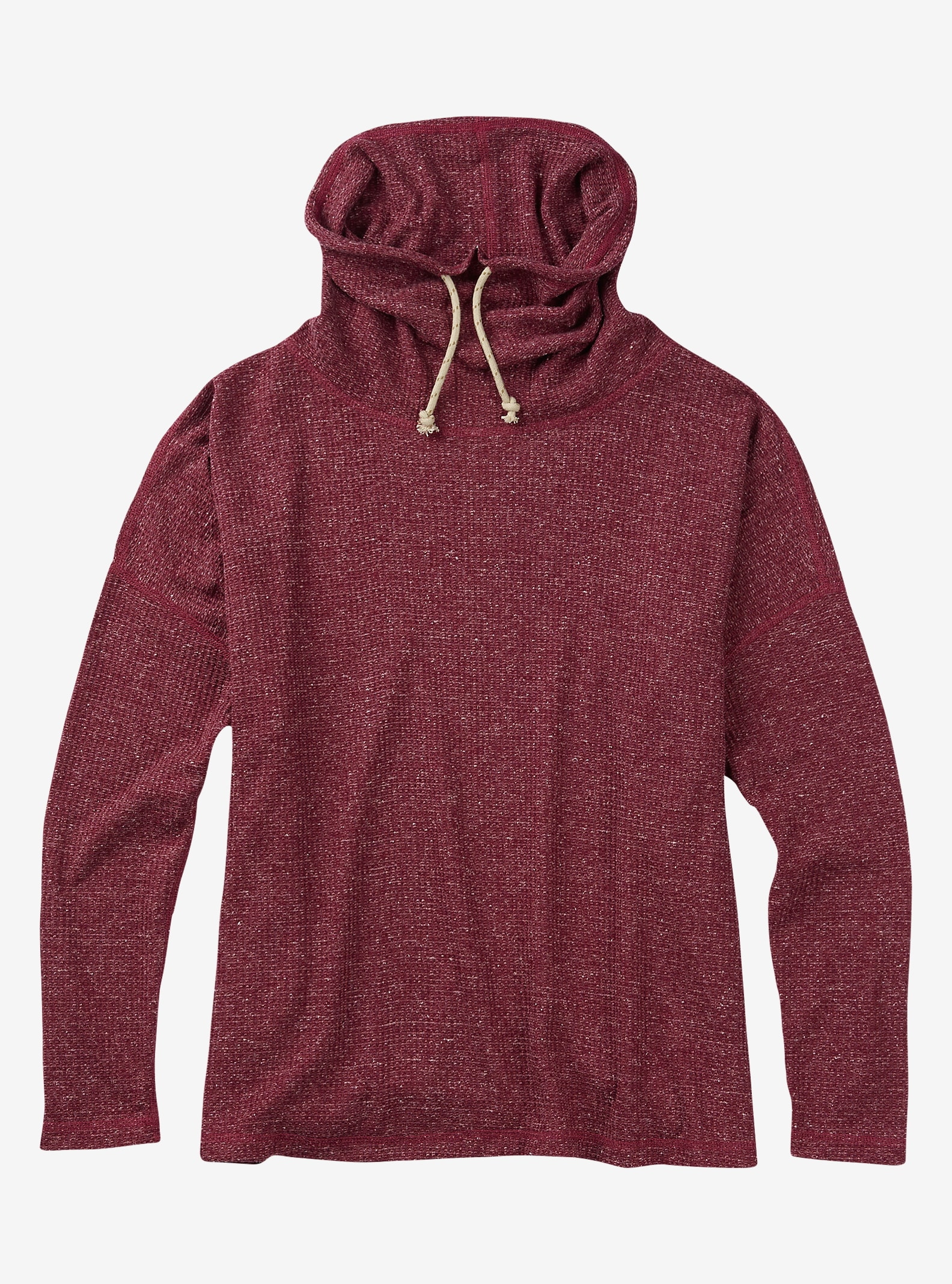 Burton Bloom Strickoberteil angezeigt in Sangria Heather