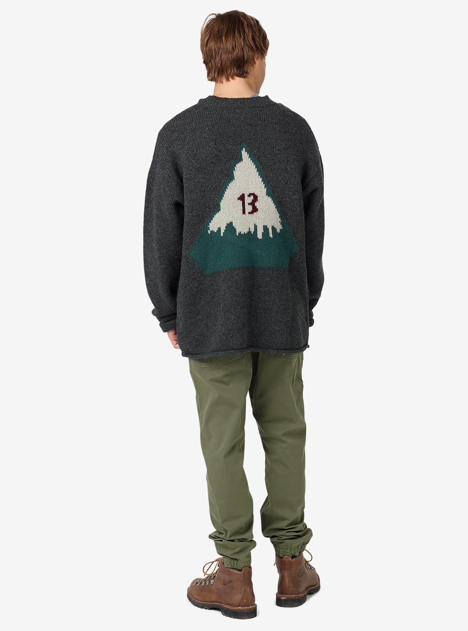 Burton Throwback Sweater shown in Dark Ash Heather