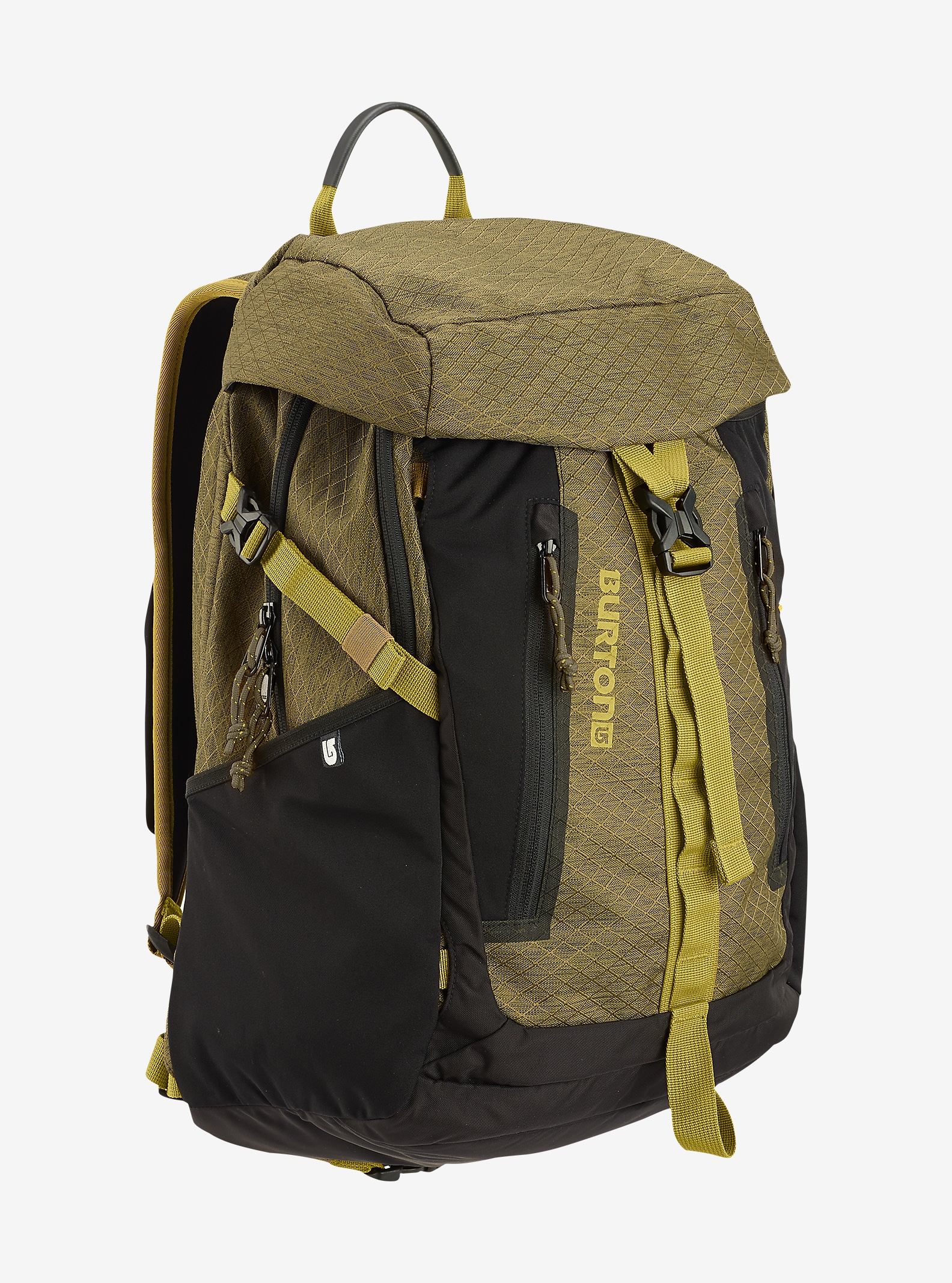 Burton Day Hiker Pinnacle 31L Backpack shown in Jungle Heather Diamond Ripstop