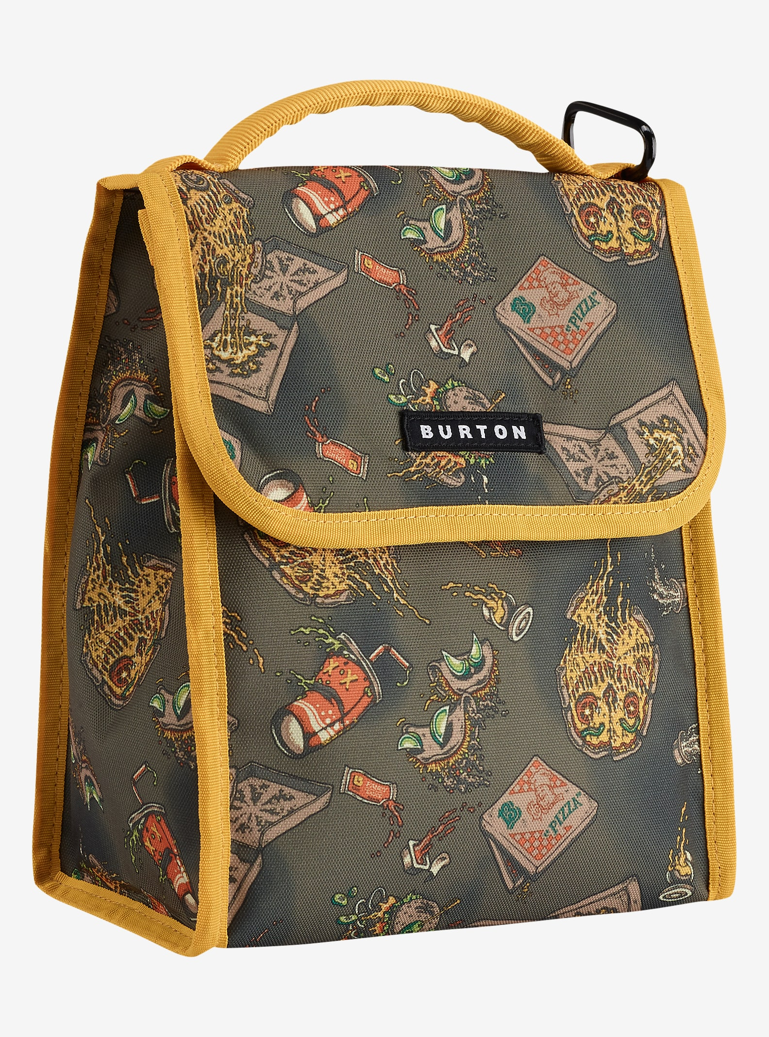 Burton Lunch Sack shown in Junk Food Print