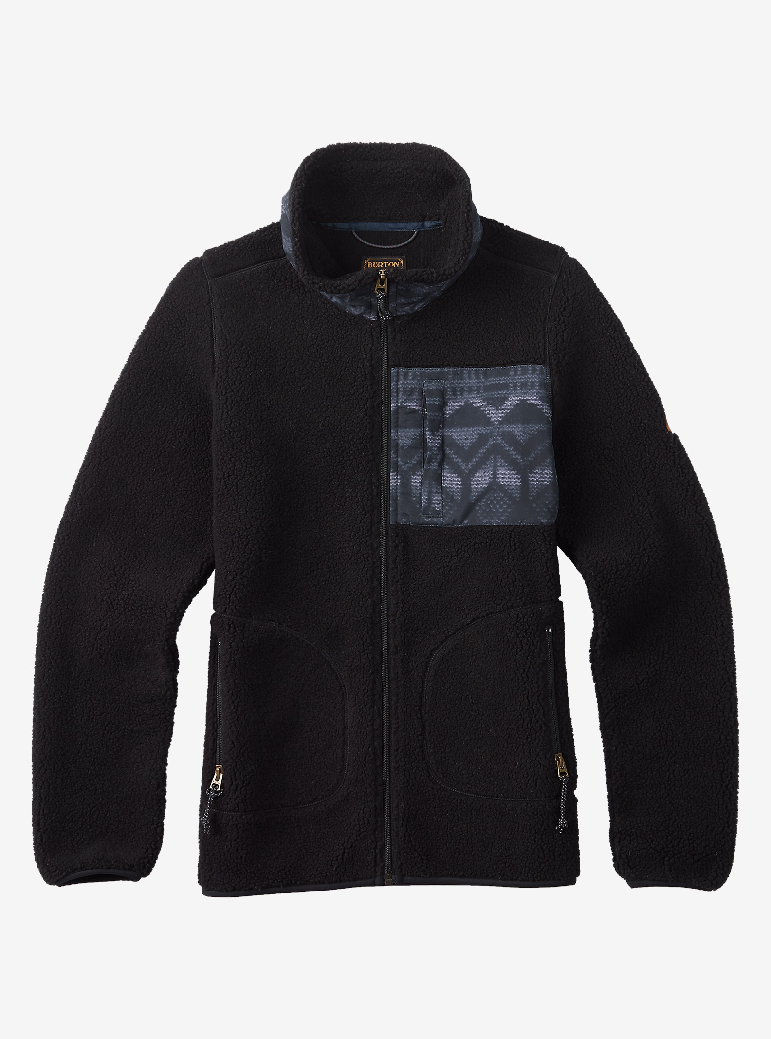 Burton Bombay Full-Zip Fleece shown in True Black