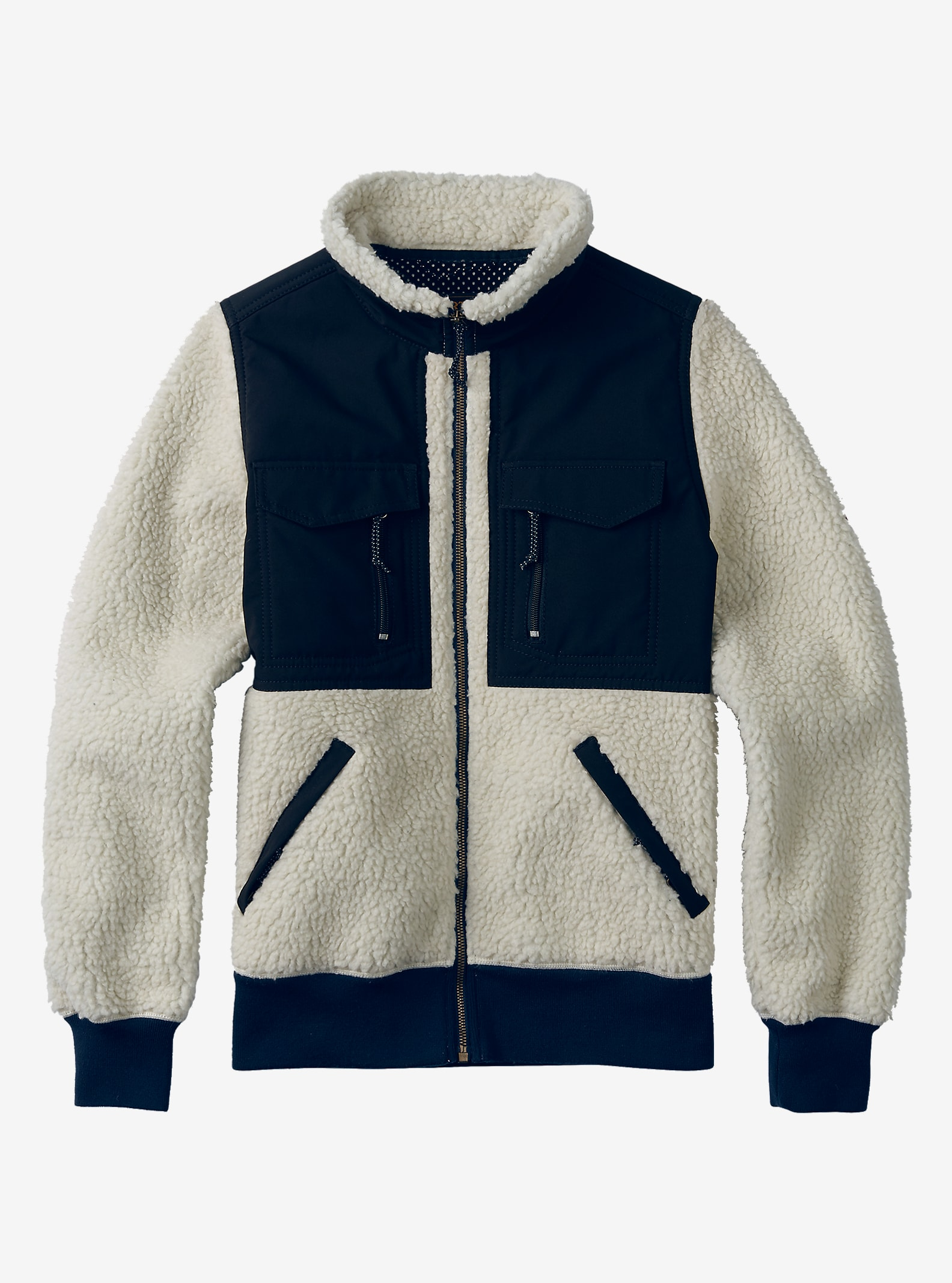 Burton Bolden Full-Zip Fleece shown in Canvas