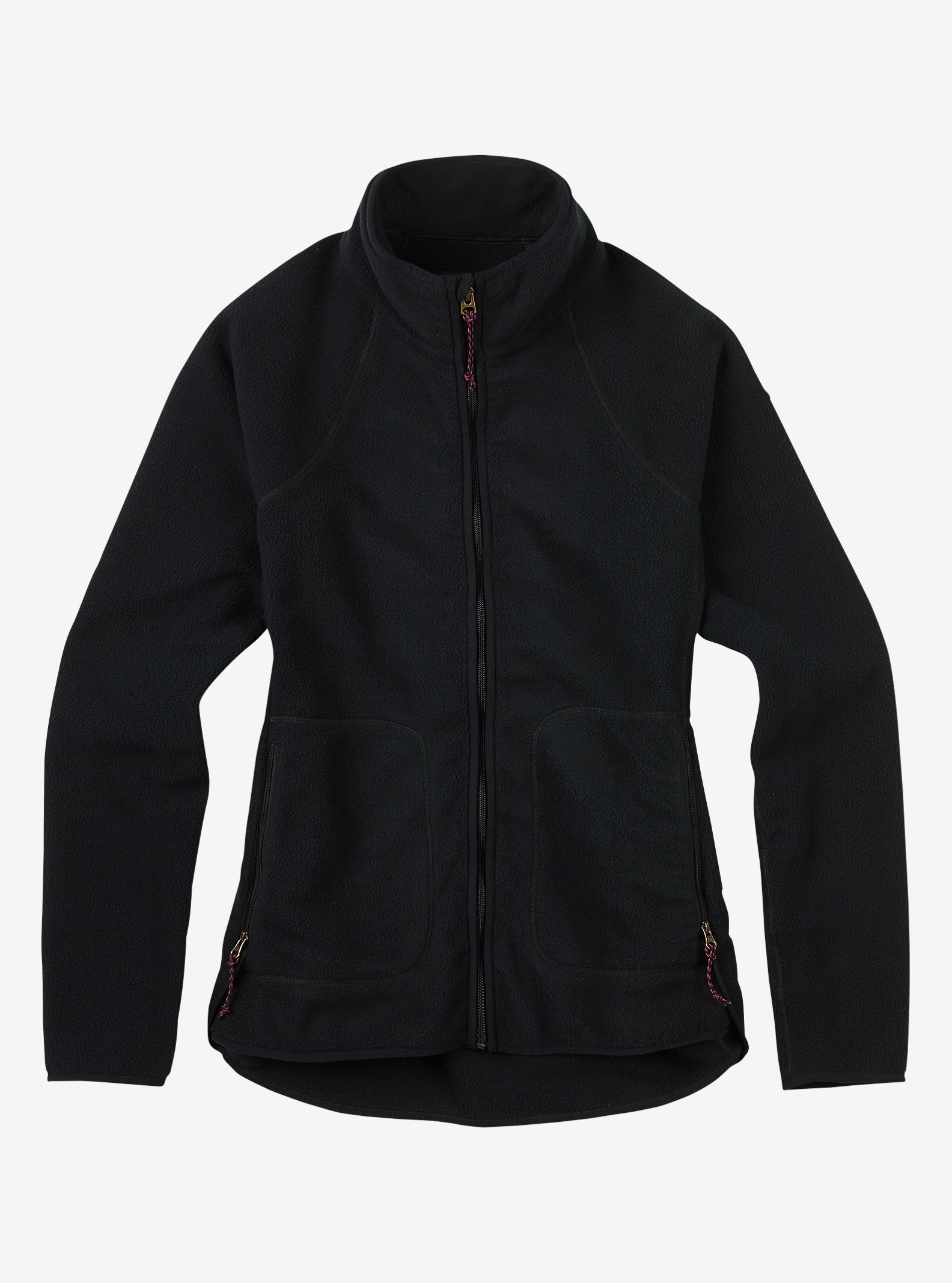 Burton Lira Full-Zip Fleece shown in True Black