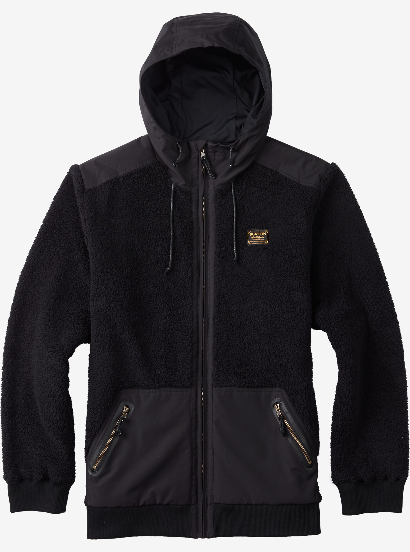 Burton Tribute Full-Zip Fleece shown in True Black