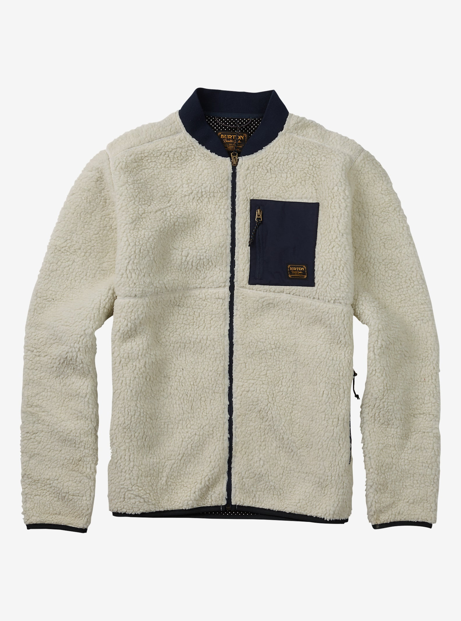 Burton Grove Full-Zip Fleece shown in Canvas