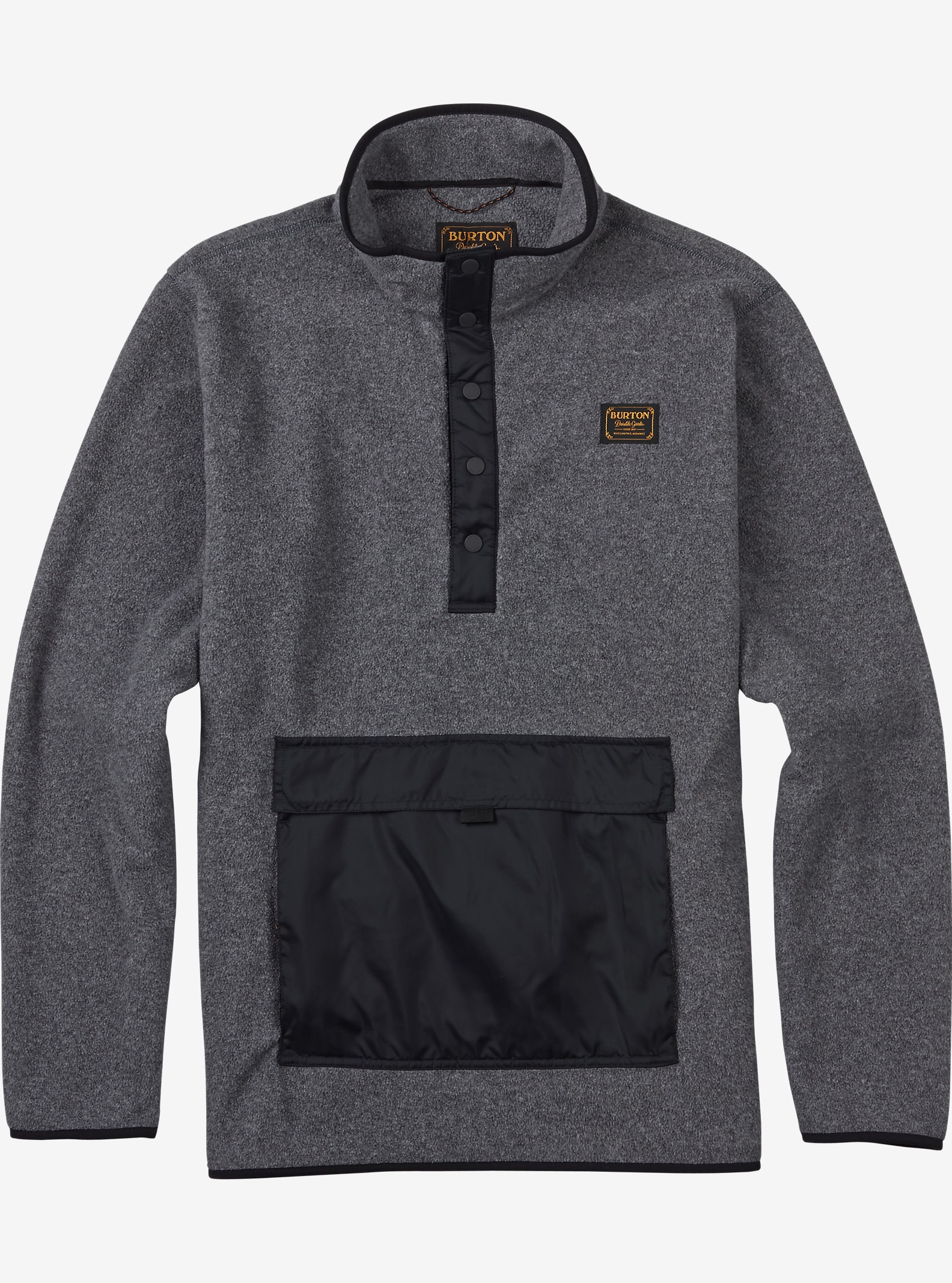 Burton - Anorak en molleton Hearth affichage en Dark Ash Heather