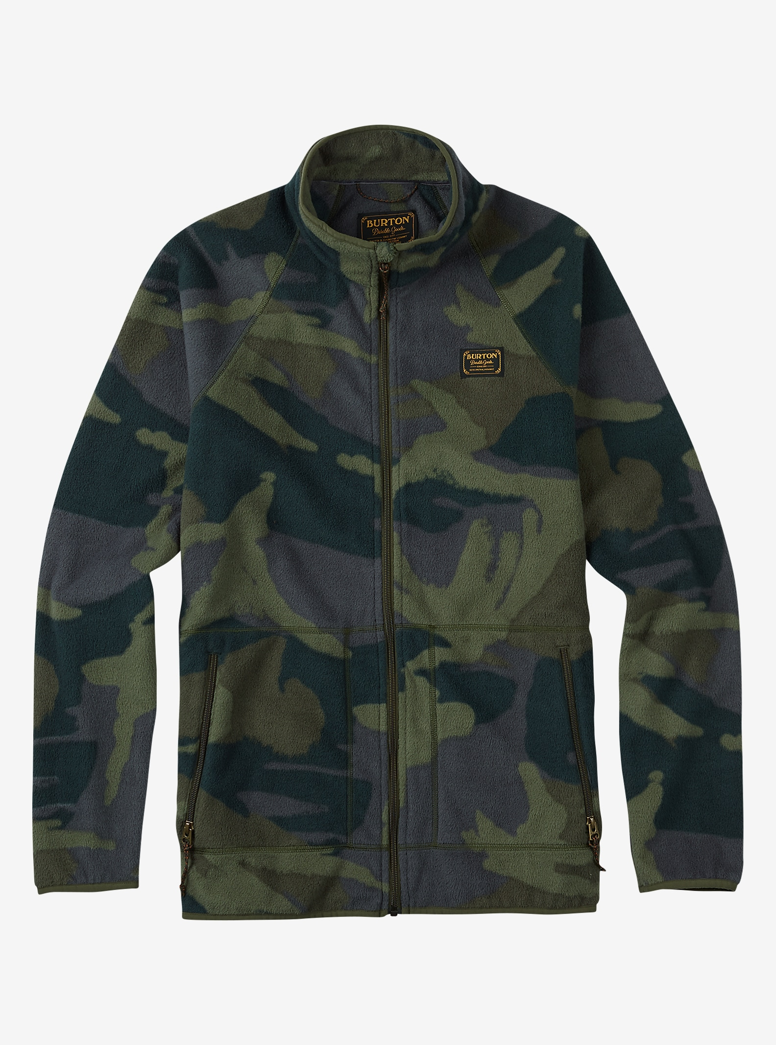 Burton Ember Full-Zip Fleece shown in Beetle Derby Camo
