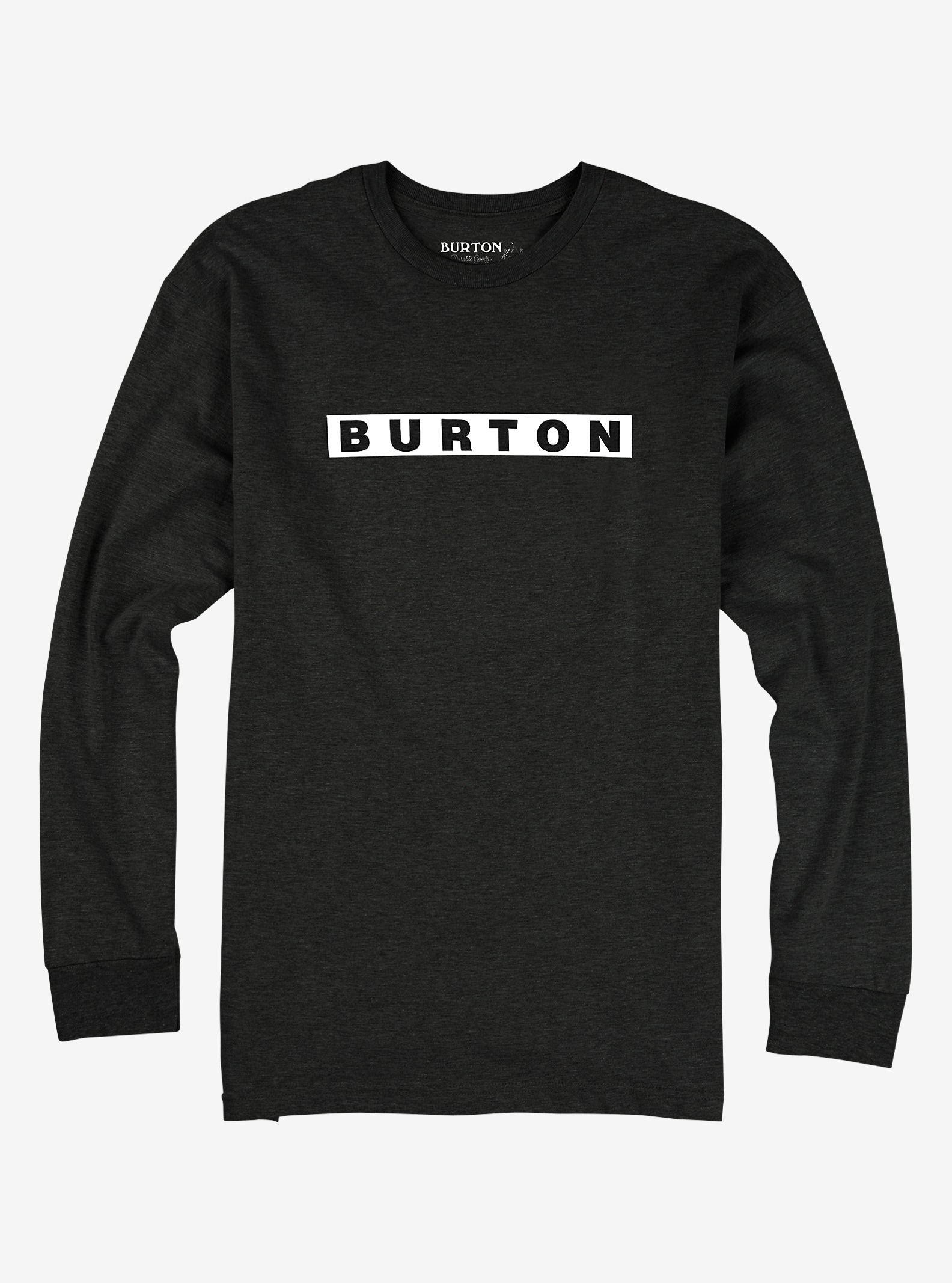 Burton Vault Long Sleeve T Shirt shown in True Black Heather