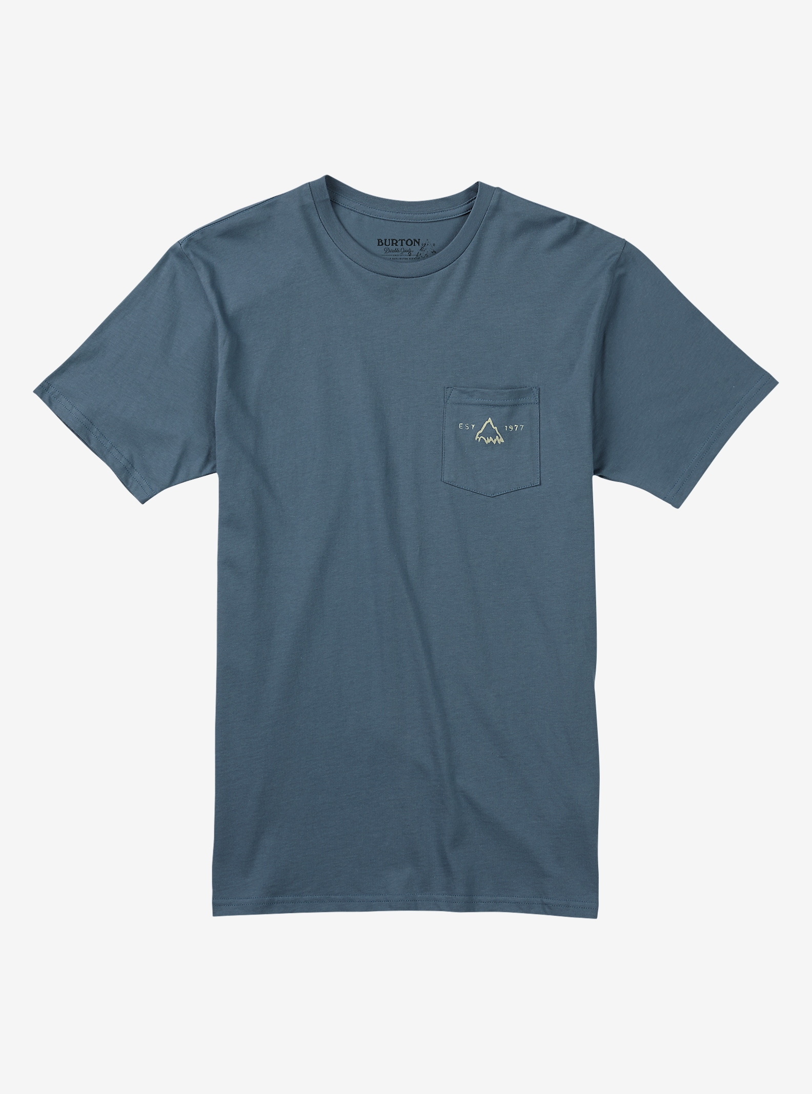 Burton Crafted SS Pocket Tee shown in Blue Mirage