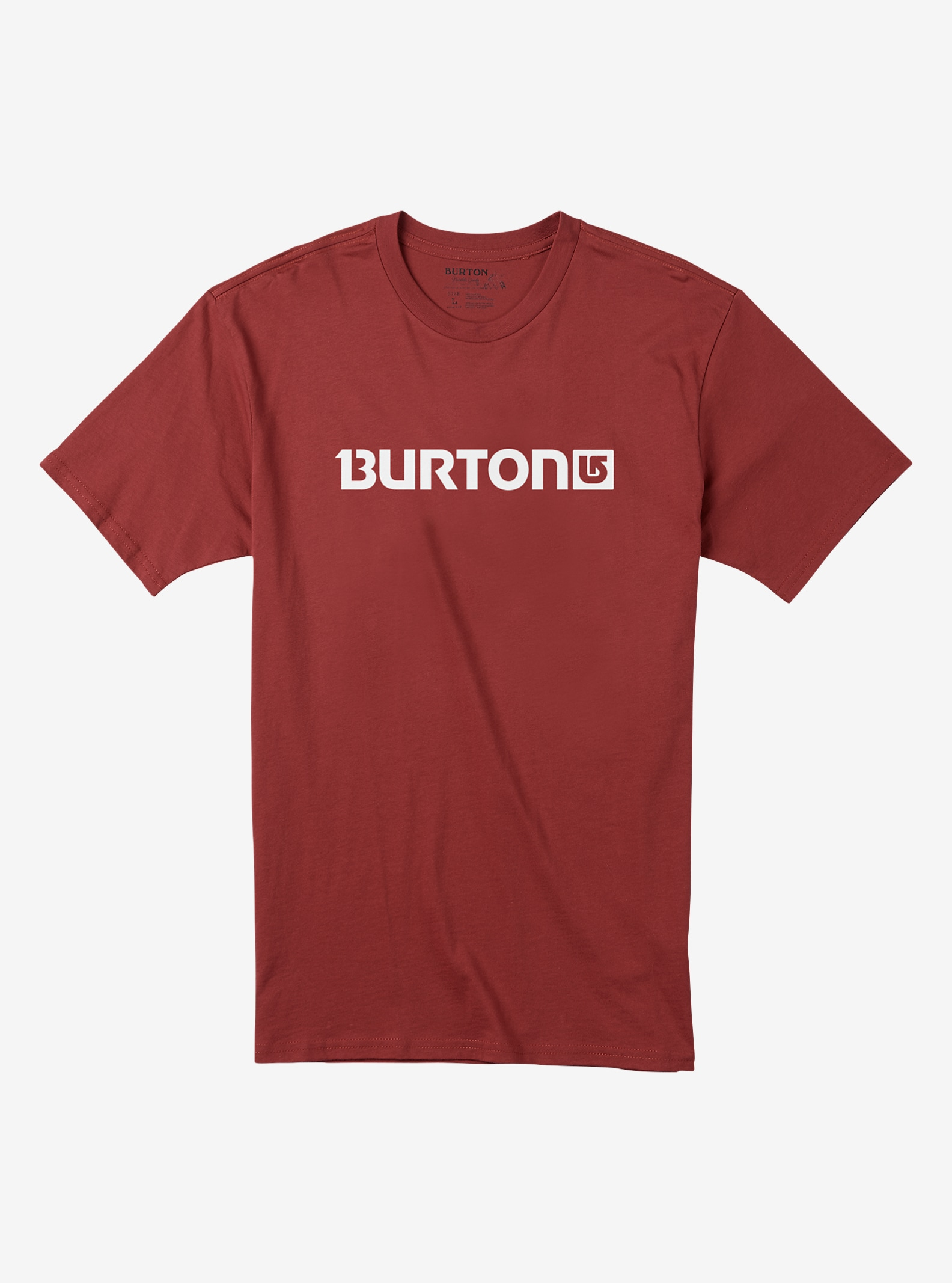 Burton Logo Horizontal Short Sleeve T Shirt shown in Brick Red