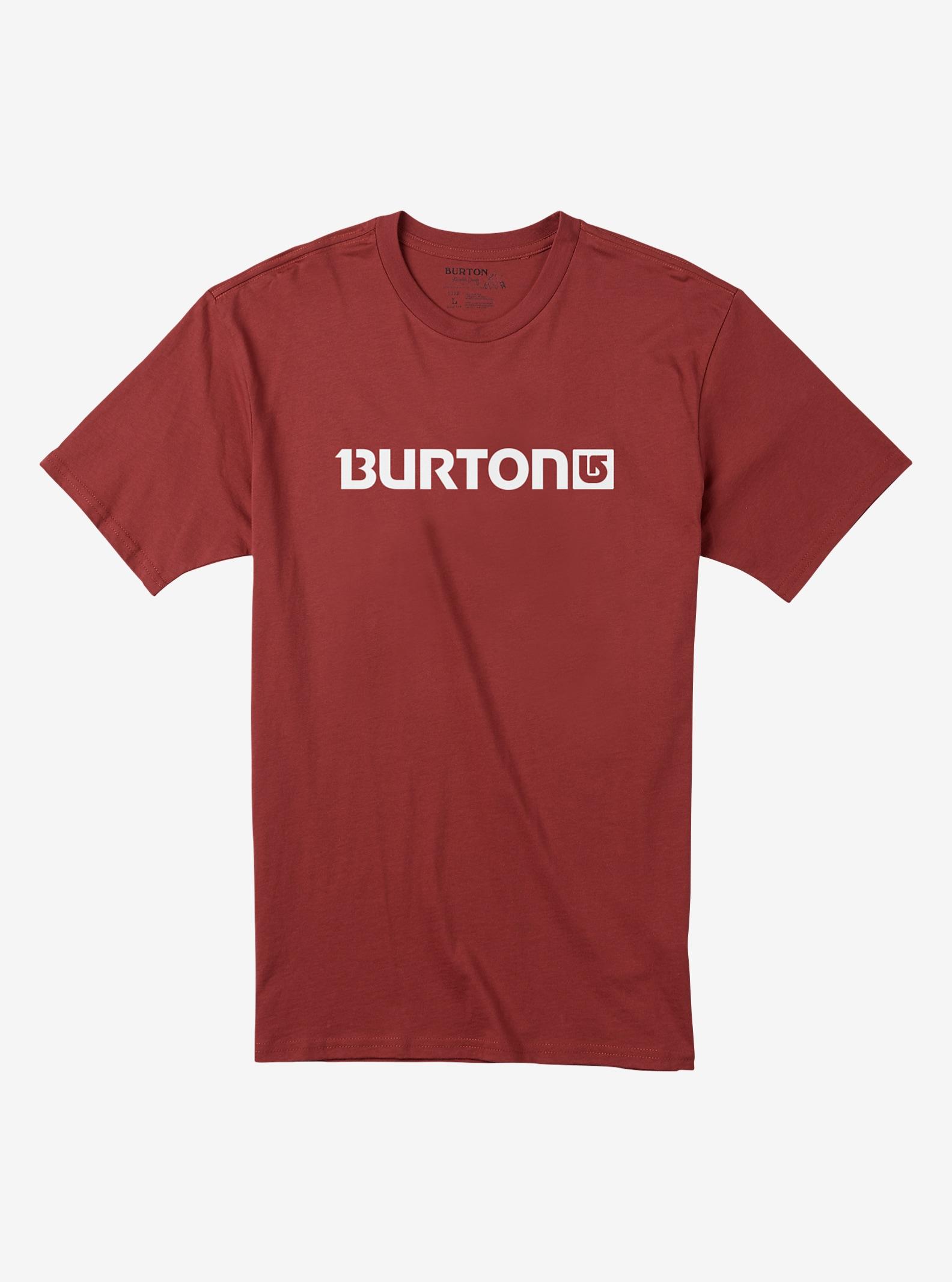 Burton Logo Horizontal Short Sleeve T Shirt shown in Brick Red