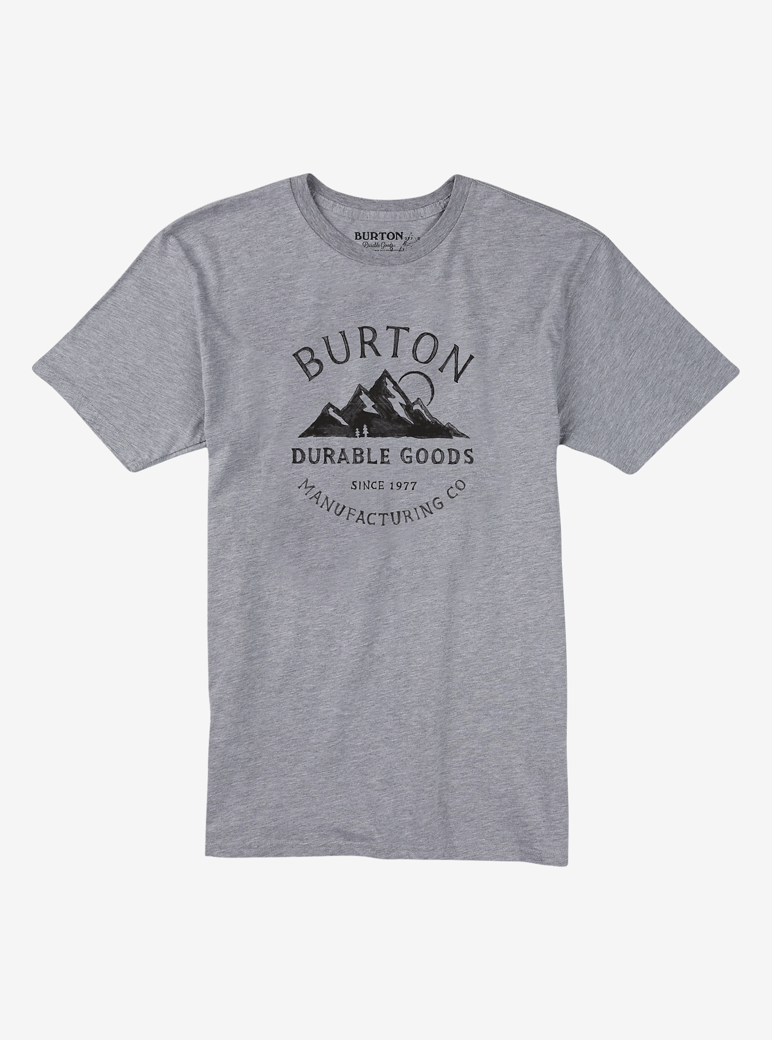 Burton Overlook Short Sleeve T Shirt shown in Gray Heather