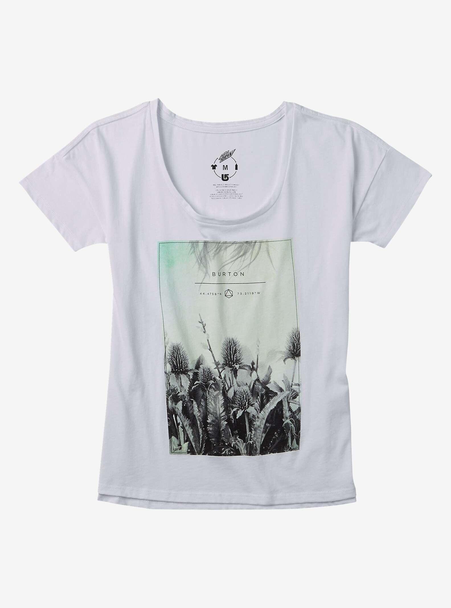 Burton Michelle T Shirt shown in Stout White