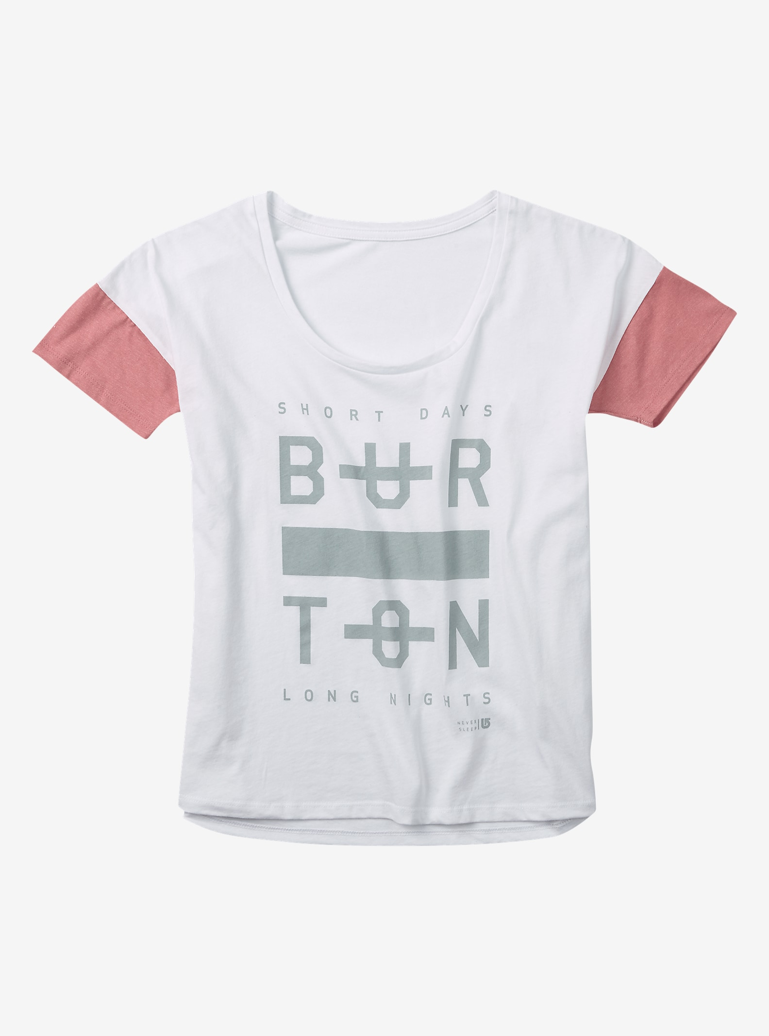 Burton - T-shirt Never Sleep affichage en Stout White