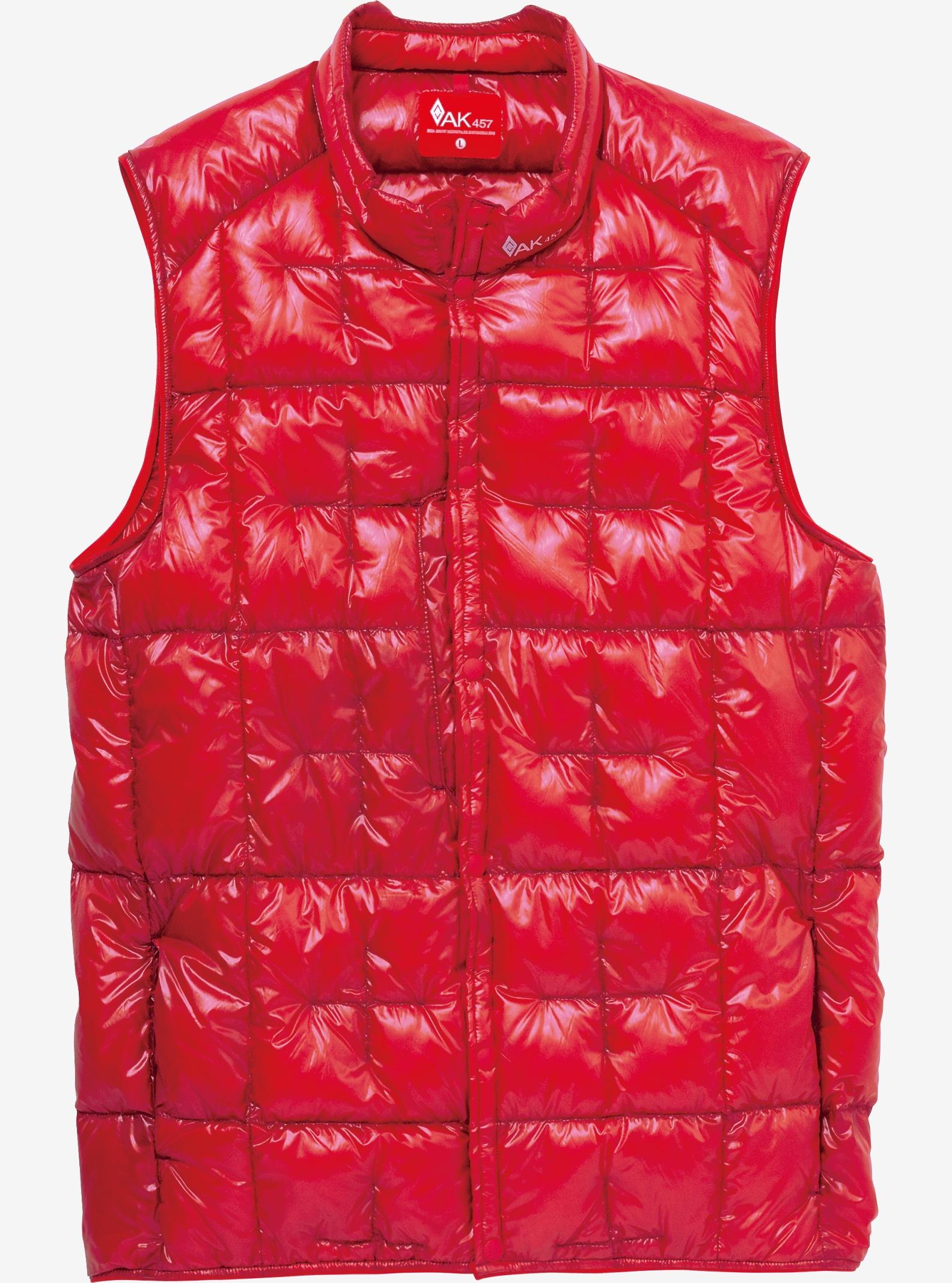 Burton AK457 Packable Down Vest Insulator shown in Red