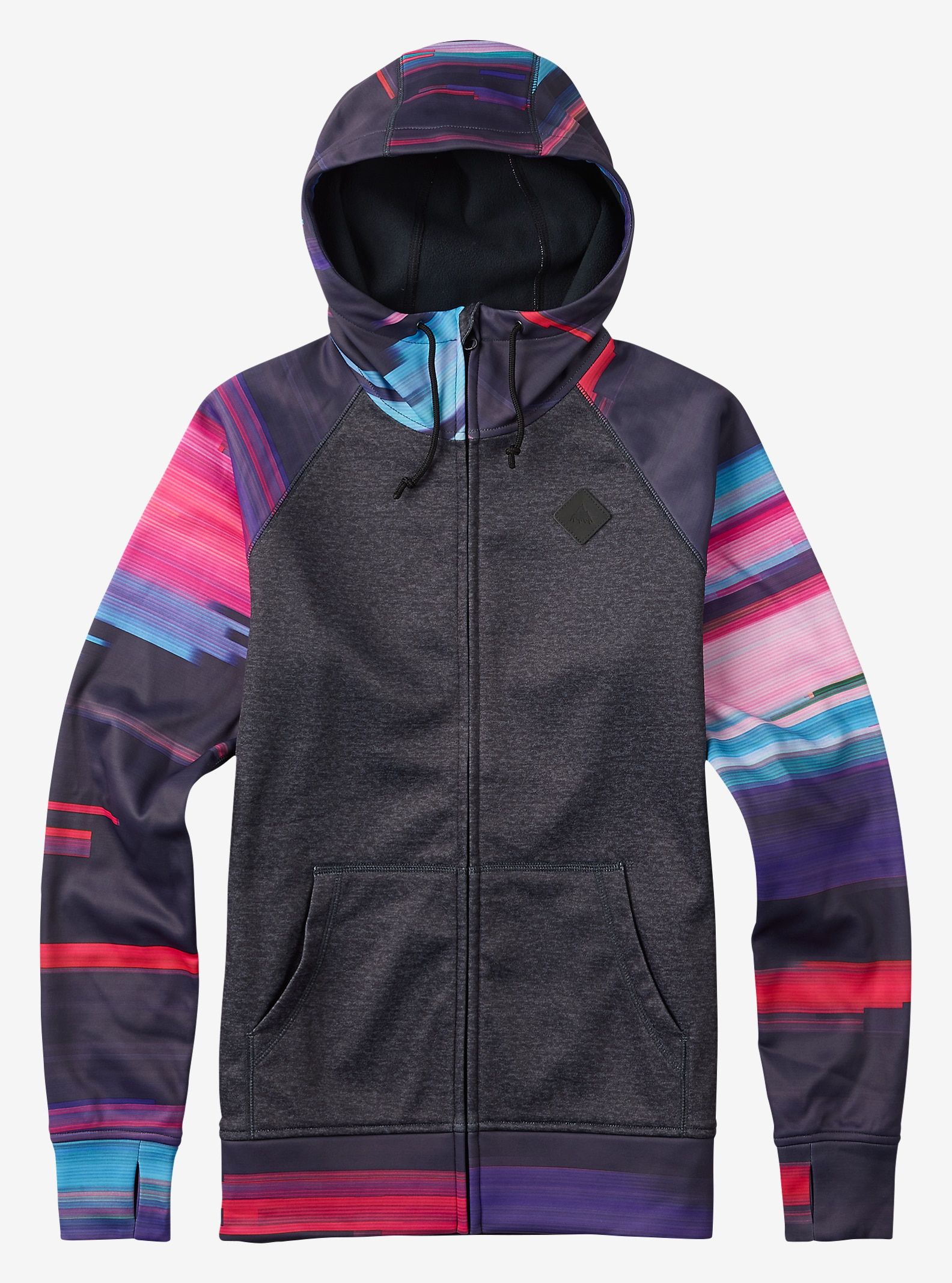 Burton - Chandail à capuchon Scoop affichage en True Black Heather / Flynn Glitch