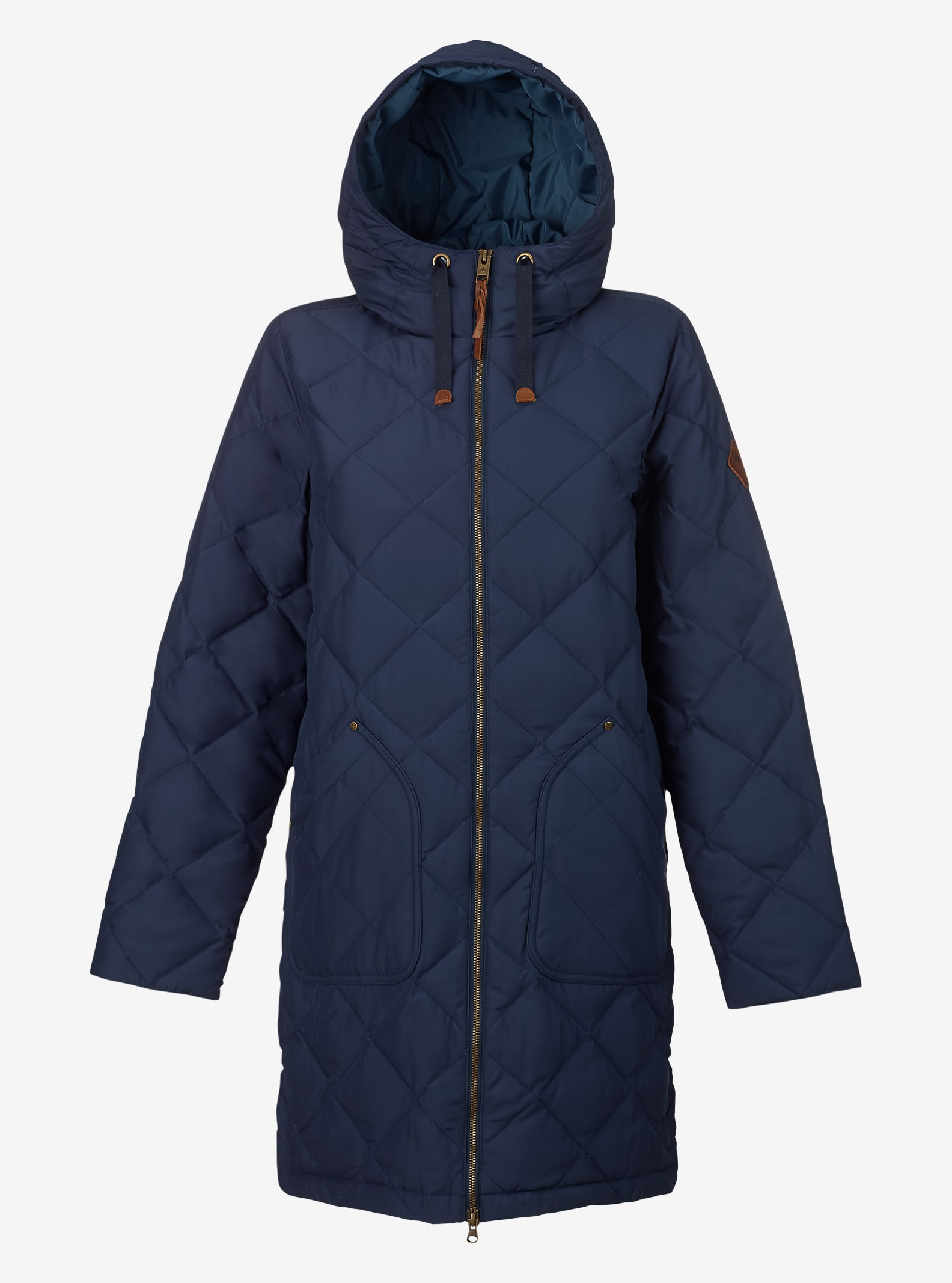 Burton Bixby Long Down Jacket shown in Mood Indigo