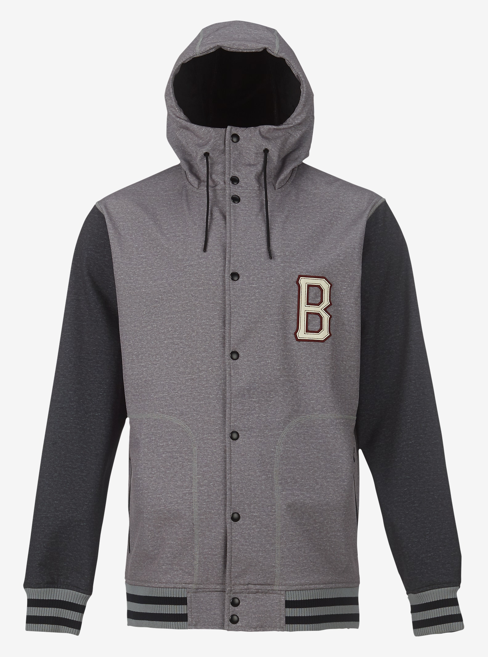 Burton Capital Softshell shown in Monument Heather