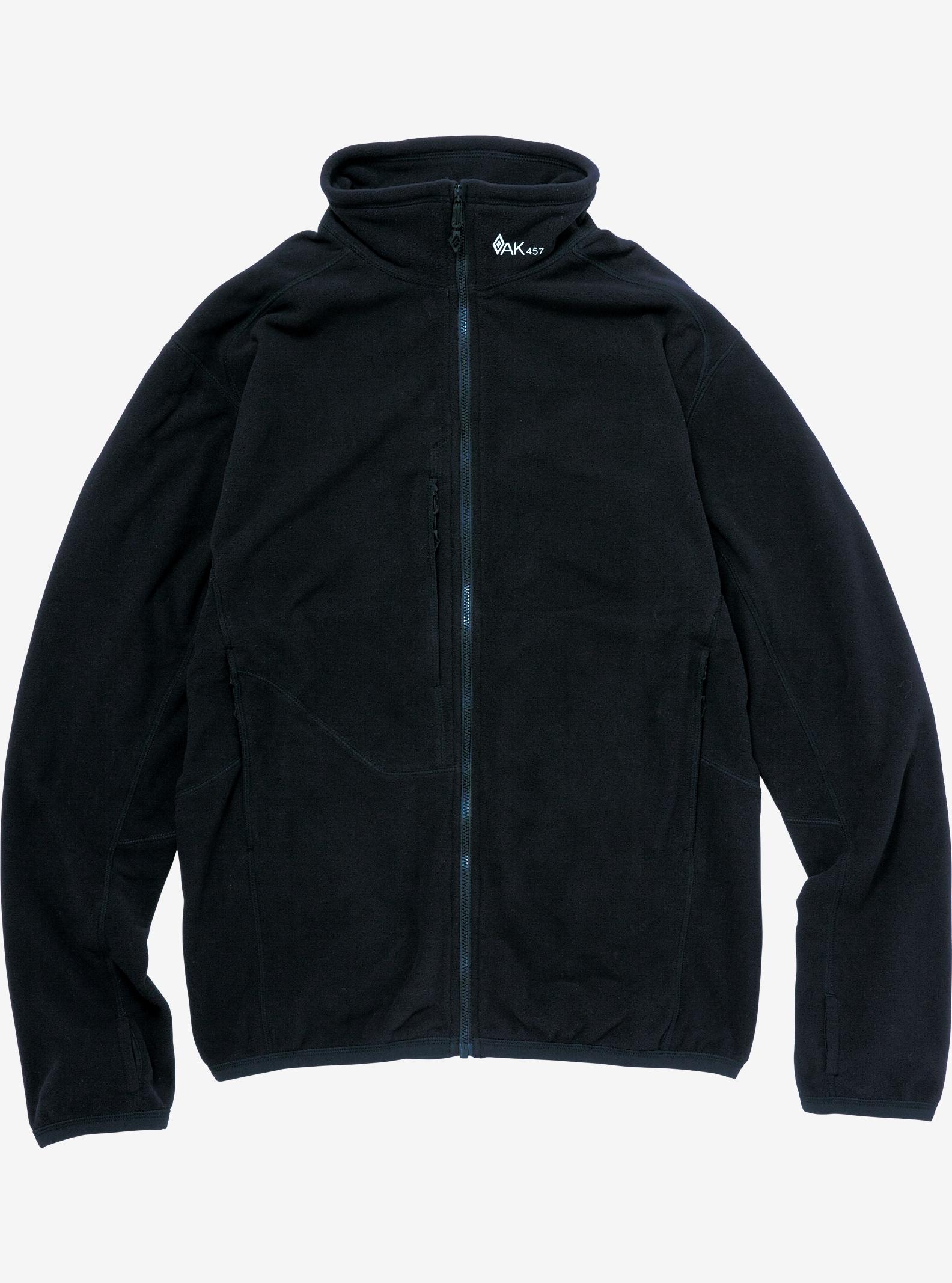 Burton AK457 Micro Fleece Jacket shown in True Black