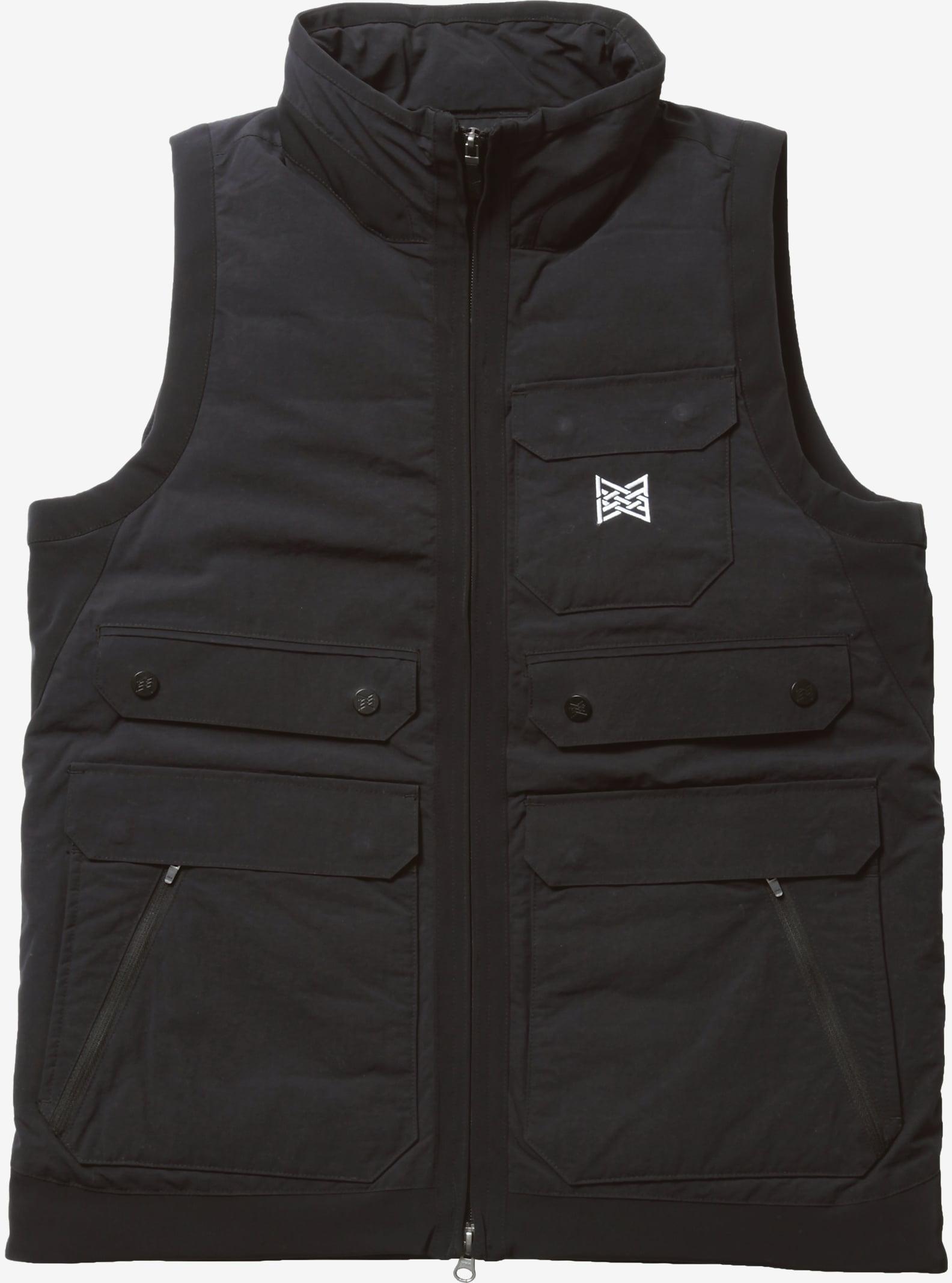 Burton THIRTEEN Raveled Vest shown in Black