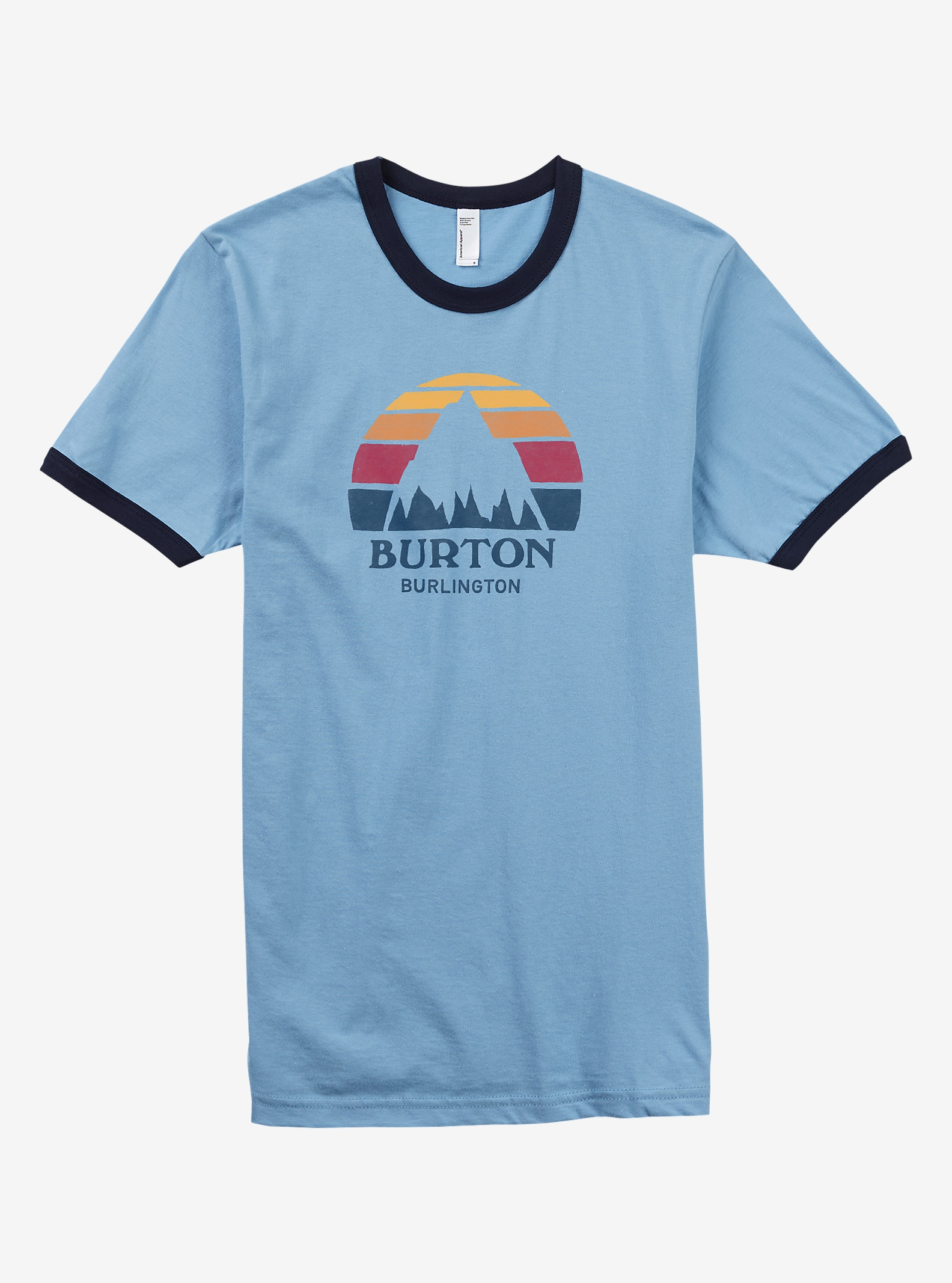 Burton City Underhill T Shirt shown in Burlington Light Blue