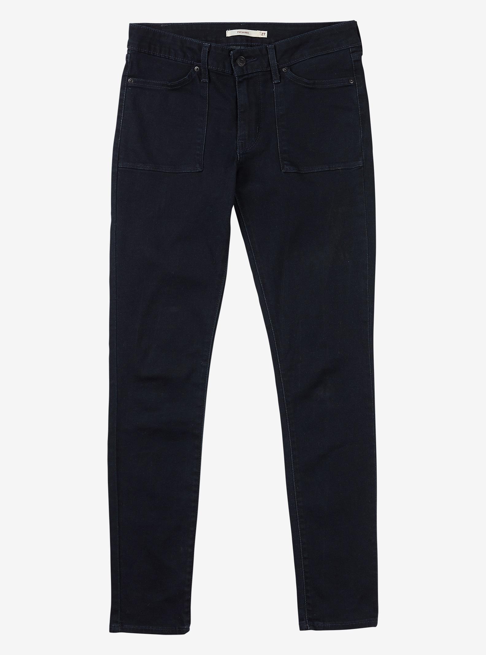 Women's Levi's® 711 Work Wear Skinny Jean shown in Midnight