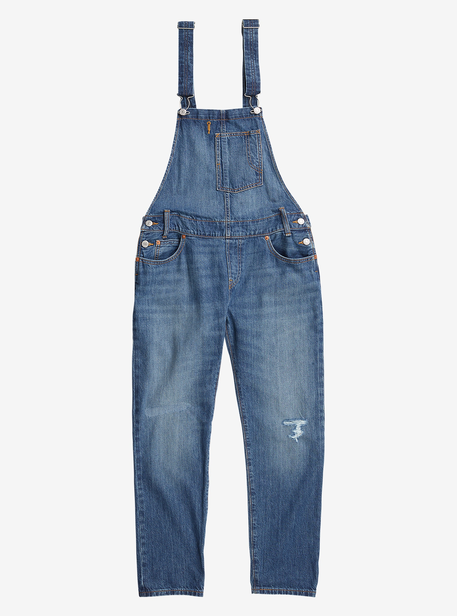 Women's Levi's® Heritage Overalls shown in Denim