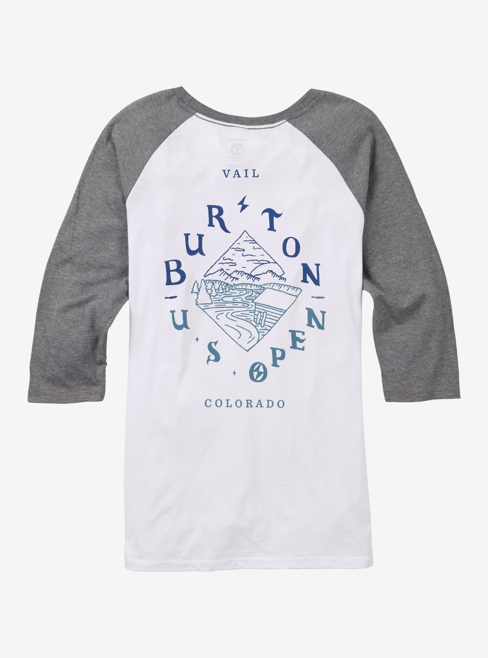 Burton US Open Raglan Tee shown in Gray Frost / White