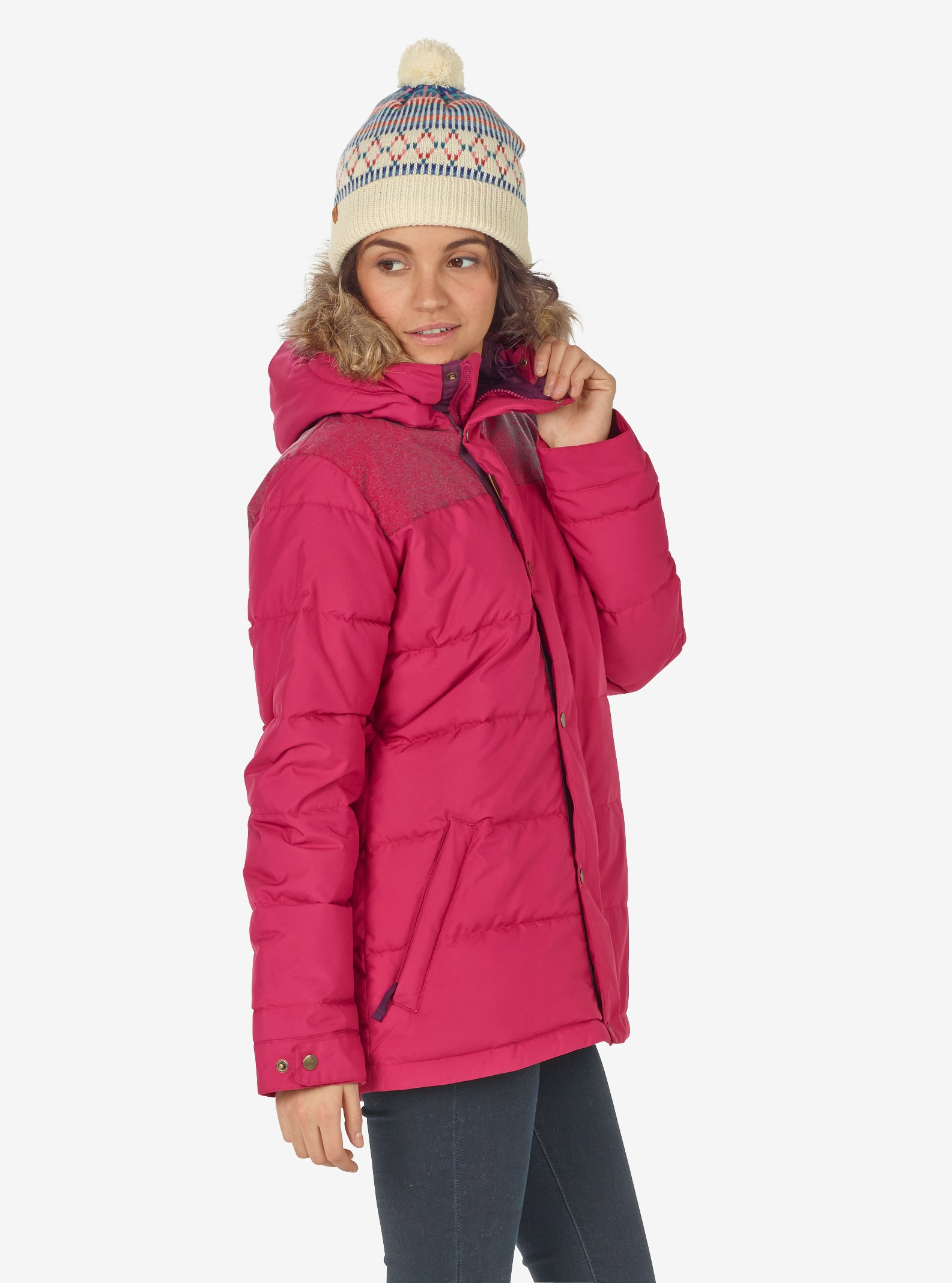 Women's Burton Traverse Jacket shown in Starling / Anemone