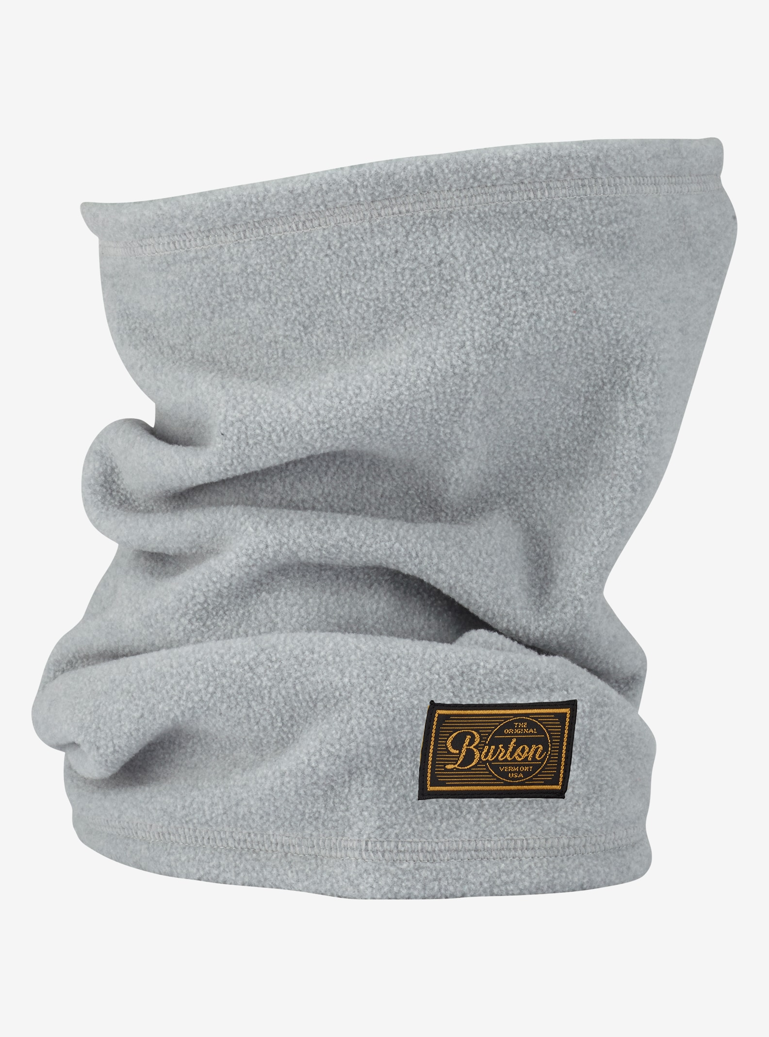 Burton Ember Fleece Neck Warmer shown in Monument Heather
