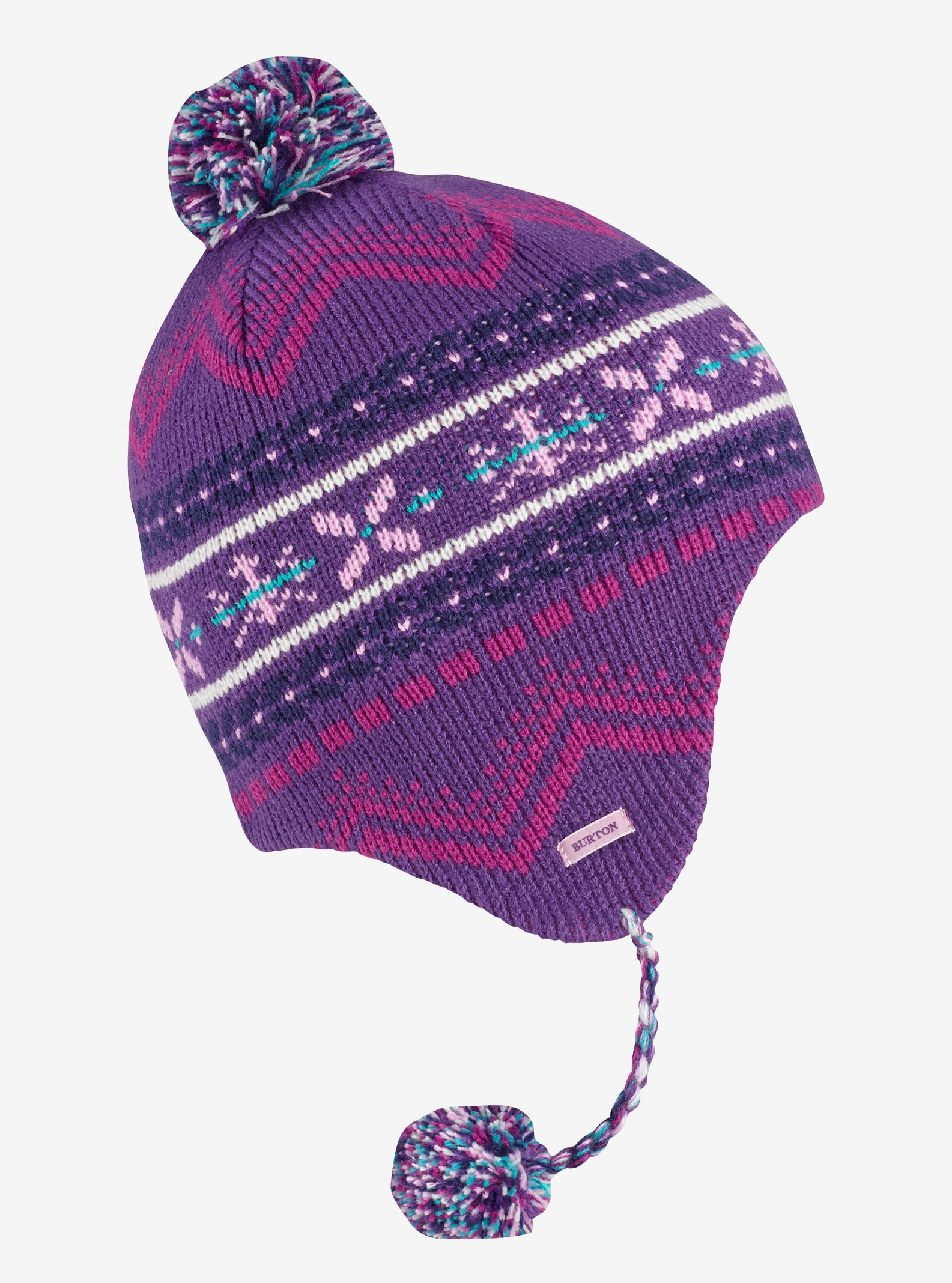 Girls' Burton Cocoa Earflap Beanie shown in Petunia