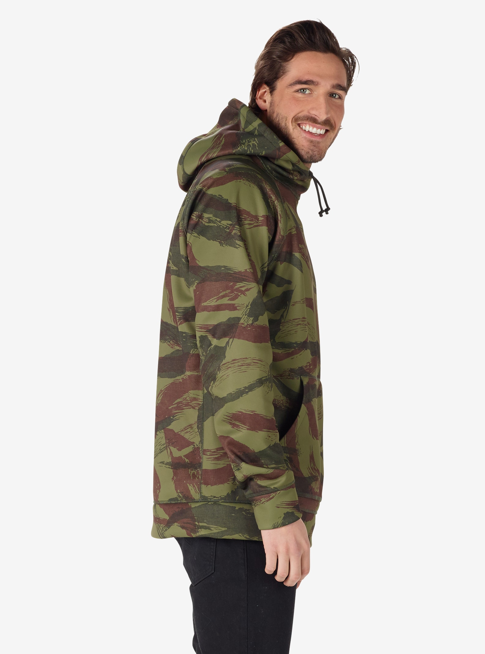 Men's Burton Crown Bonded Pullover Hoodie shown in Brush Camo