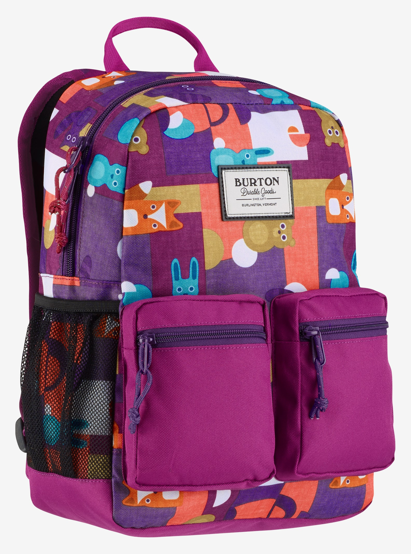 Burton Kids' Gromlet Backpack shown in Paper Animals Print