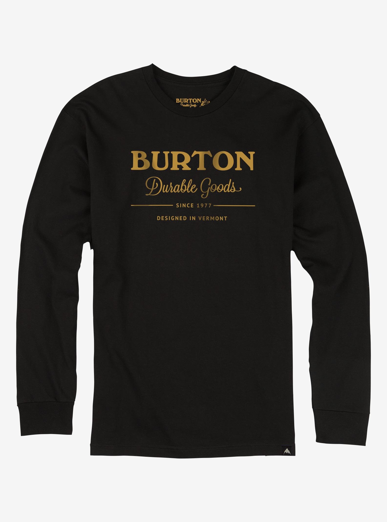 Men's Burton Durable Goods Long Sleeve T Shirt shown in True Black