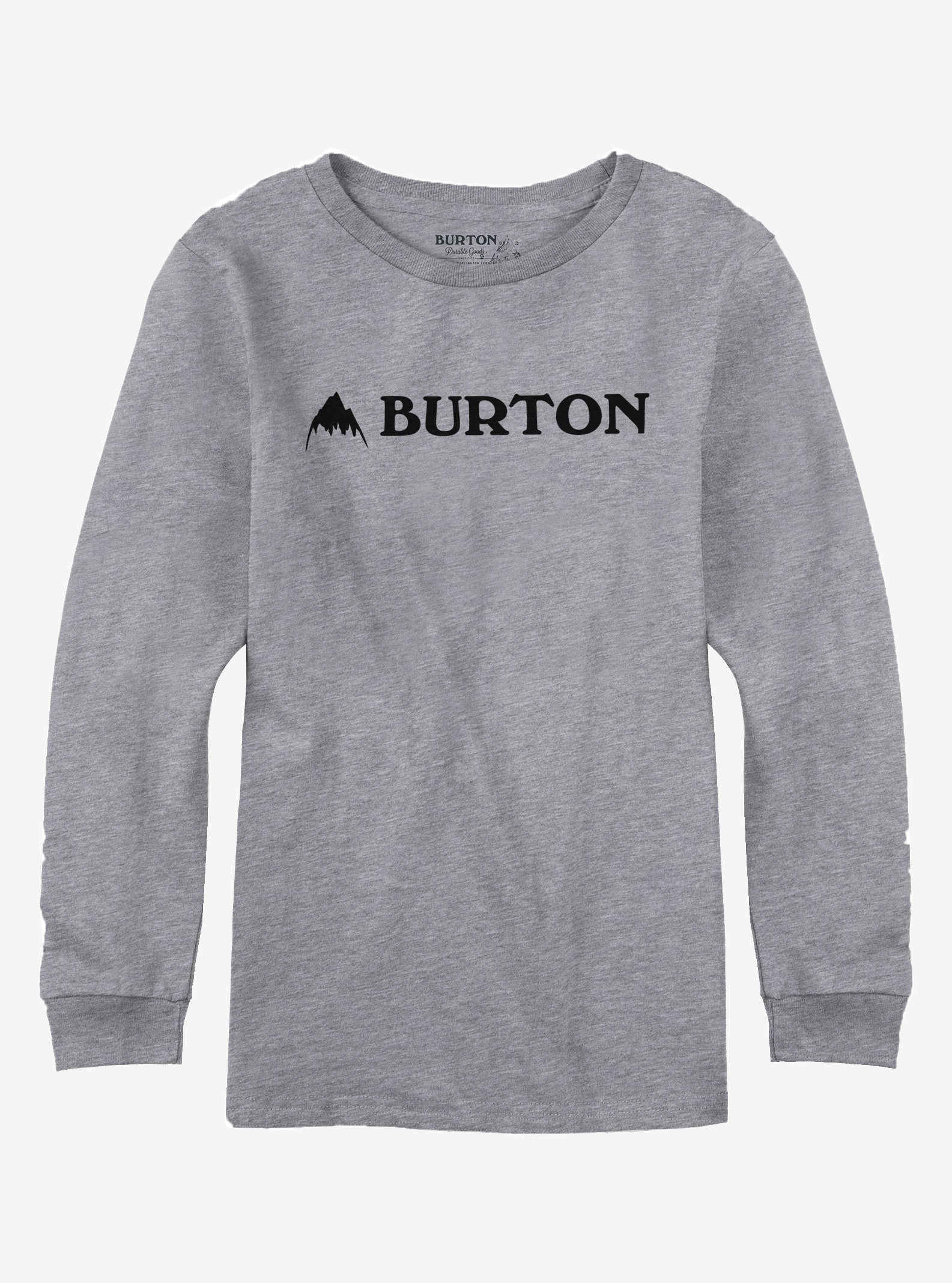 Boys' Burton Mountain Horizontal Long Sleeve T Shirt shown in Gray Heather