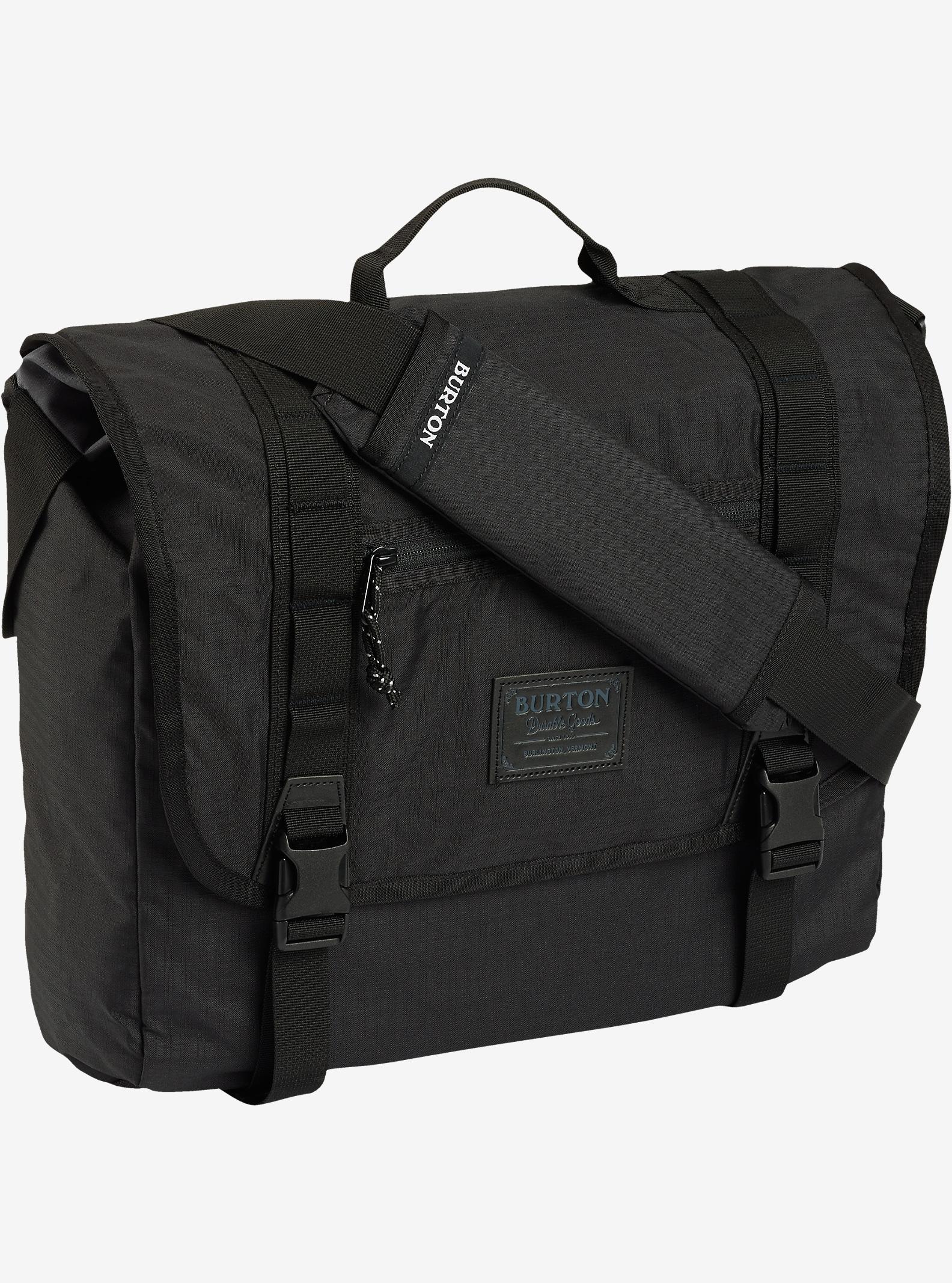Burton Flint Messenger Bag shown in True Black Triple Ripstop