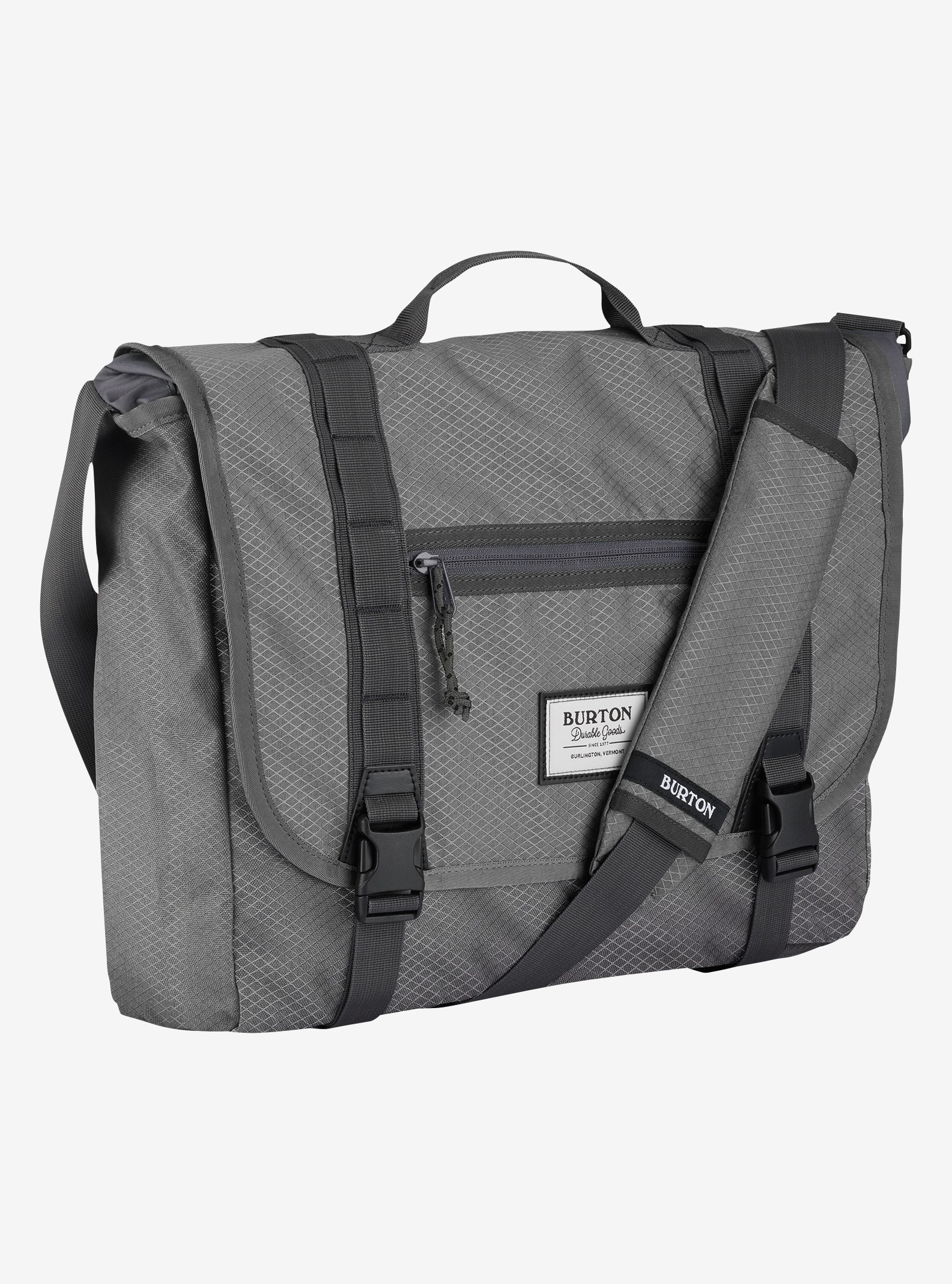 Burton Flint Messenger Bag shown in Faded Diamond Ripstop