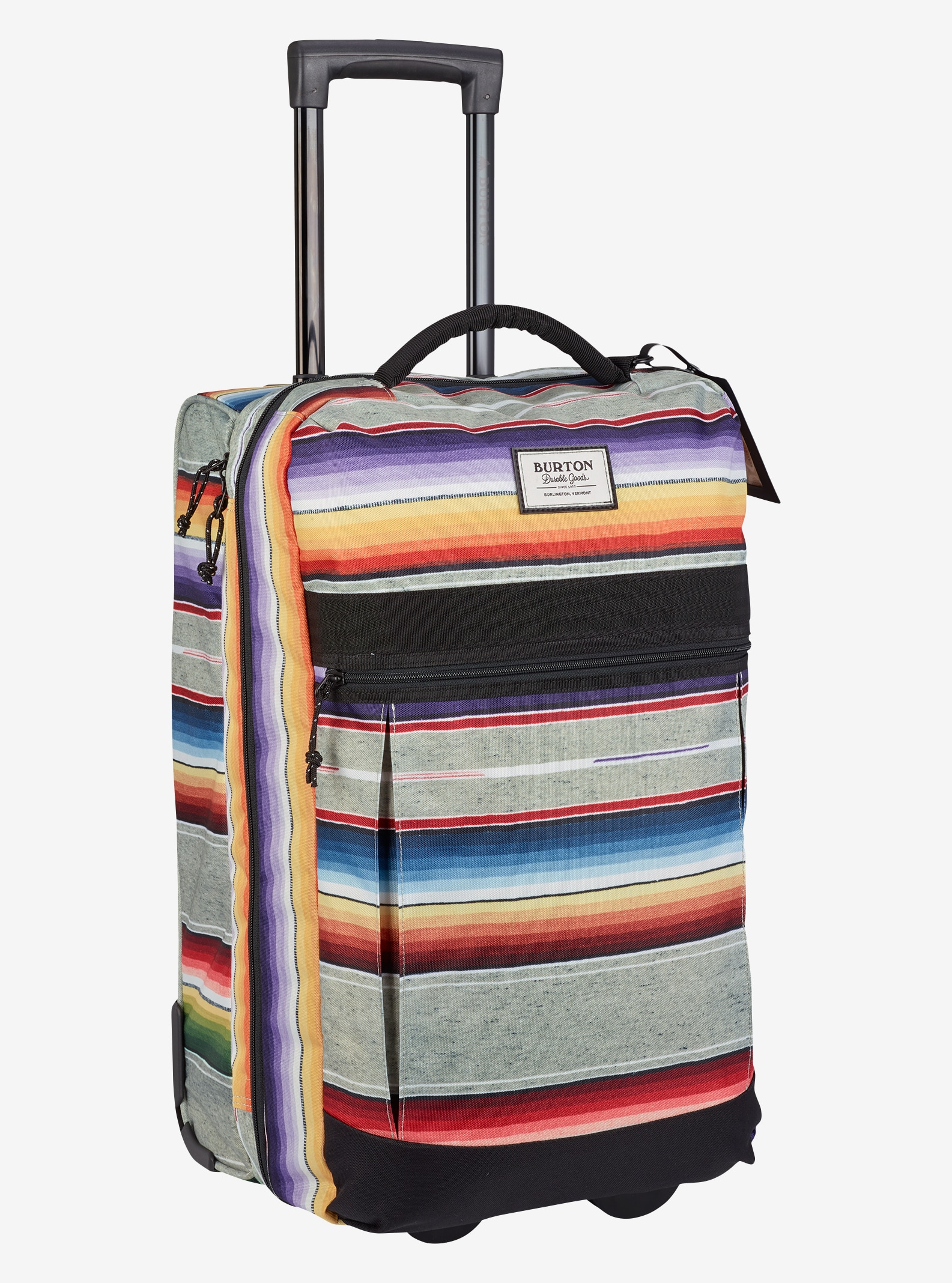 Burton Charter Roller Travel Bag shown in Bright Sinola Stripe Print